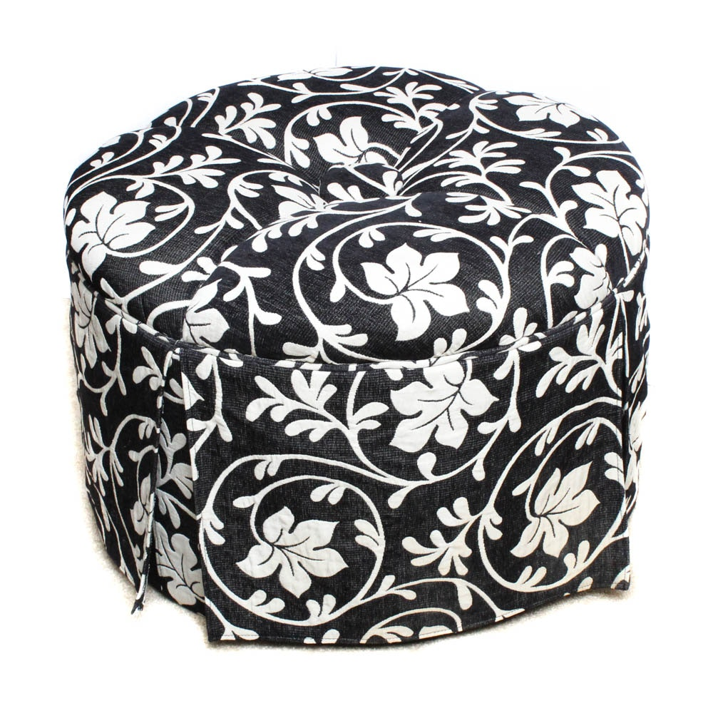 Contemporary Button Tufted Ottoman