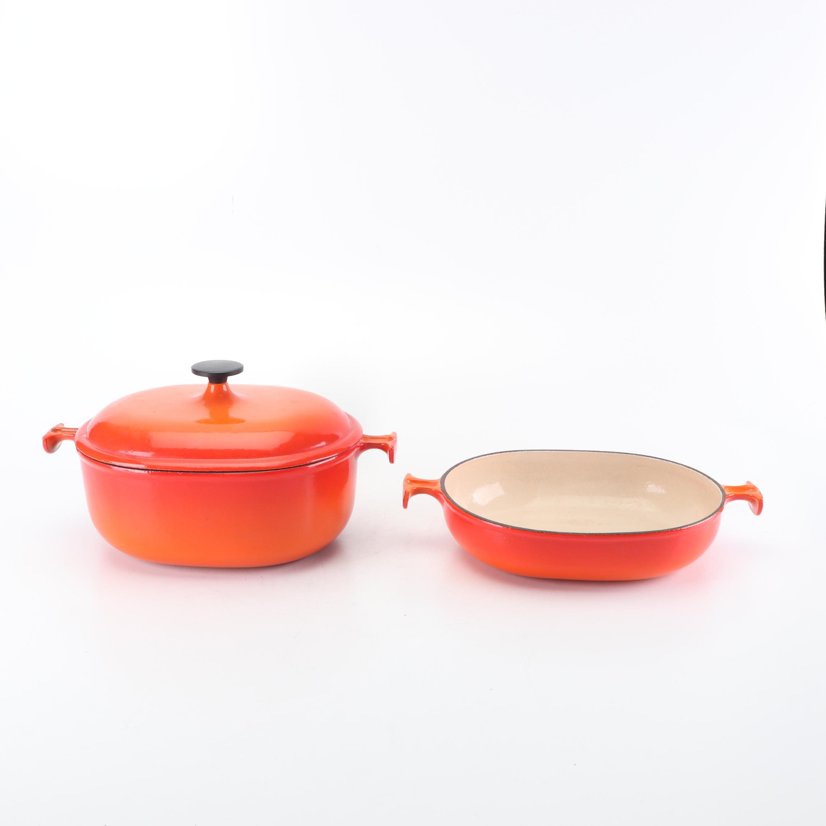 Le Creuset Enameled Cast Iron Covered Casserole with Baking Dish
