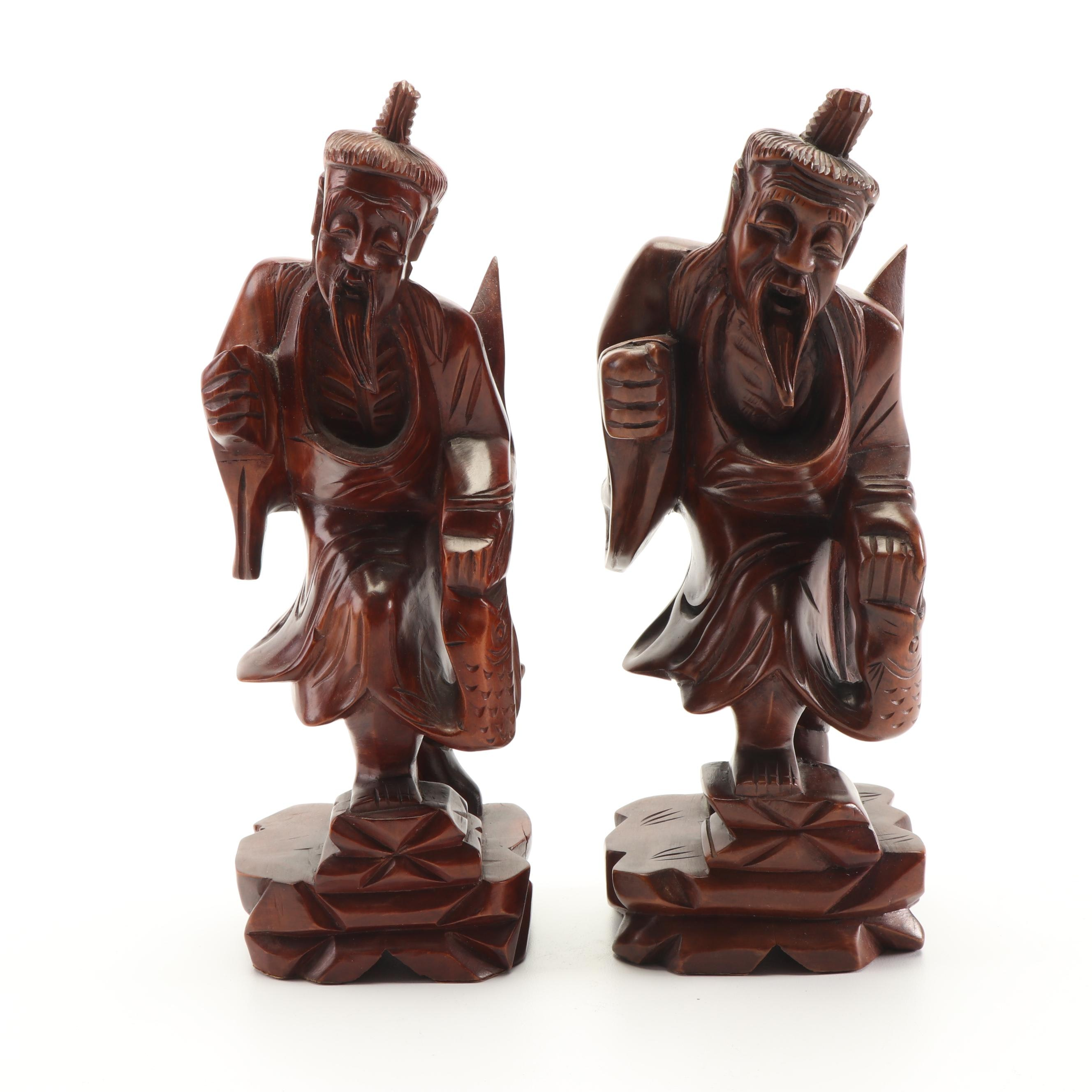 Chinese Carved Wood Figures