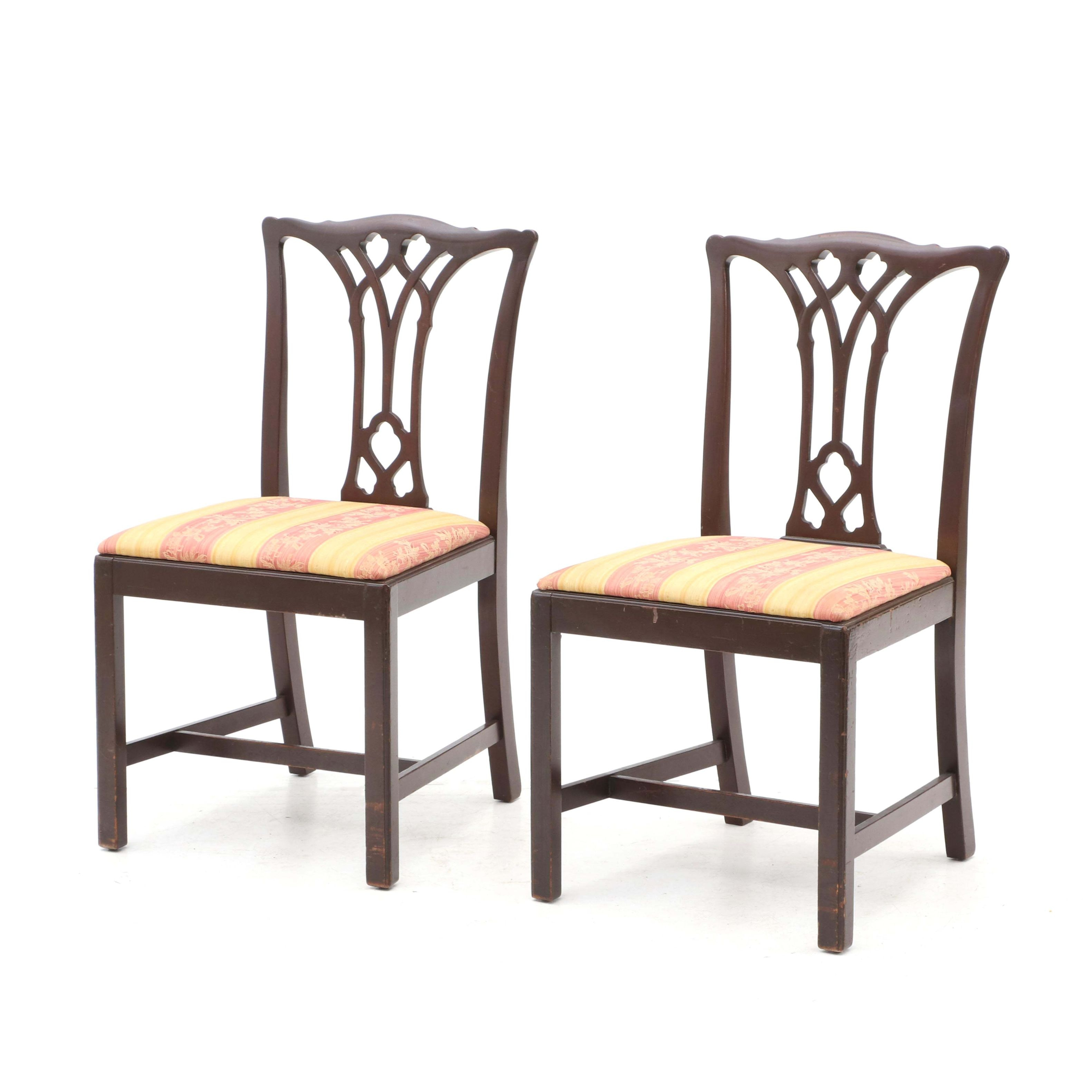 A Pair of Federal Style Side Chairs, 20th Century