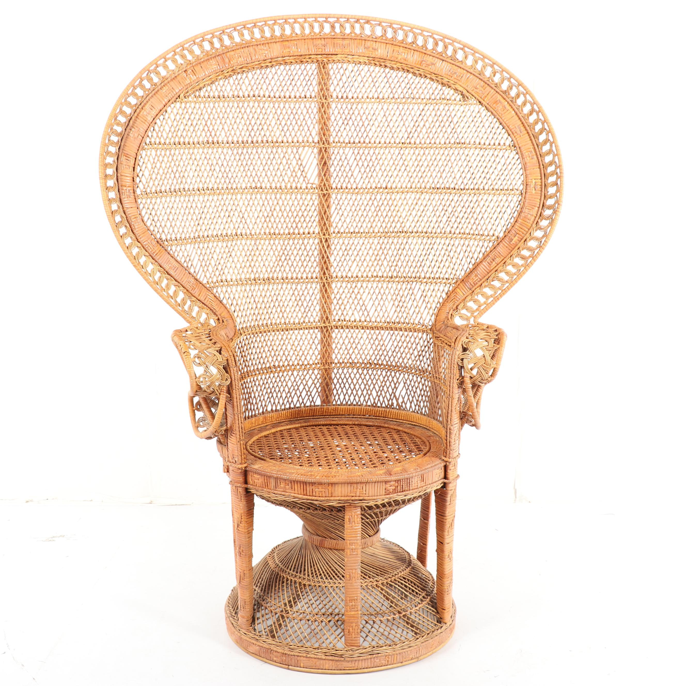 Rattan Peacock Chair, Late 20th Century
