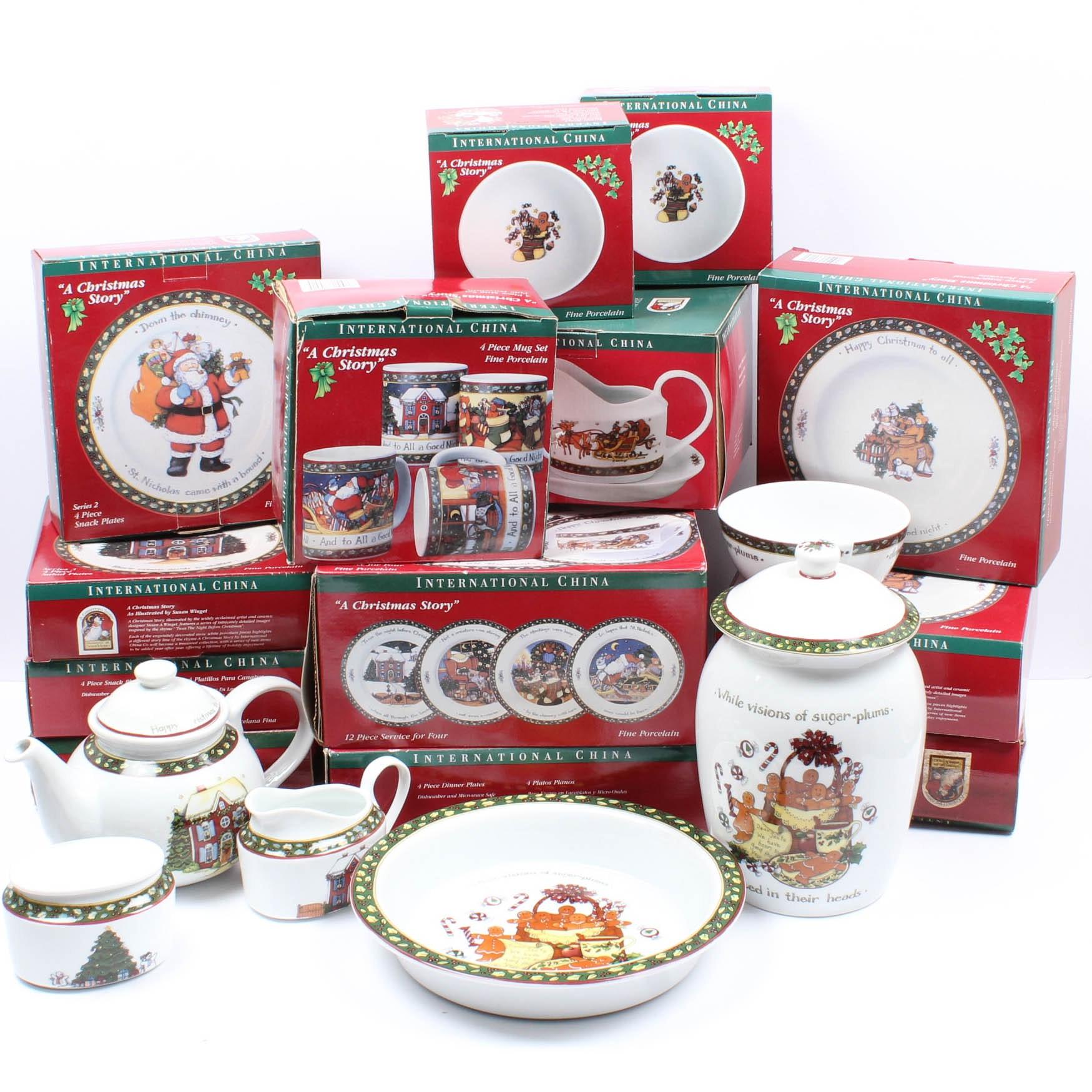 "International China Company Tableware ""A Christmas Story"""