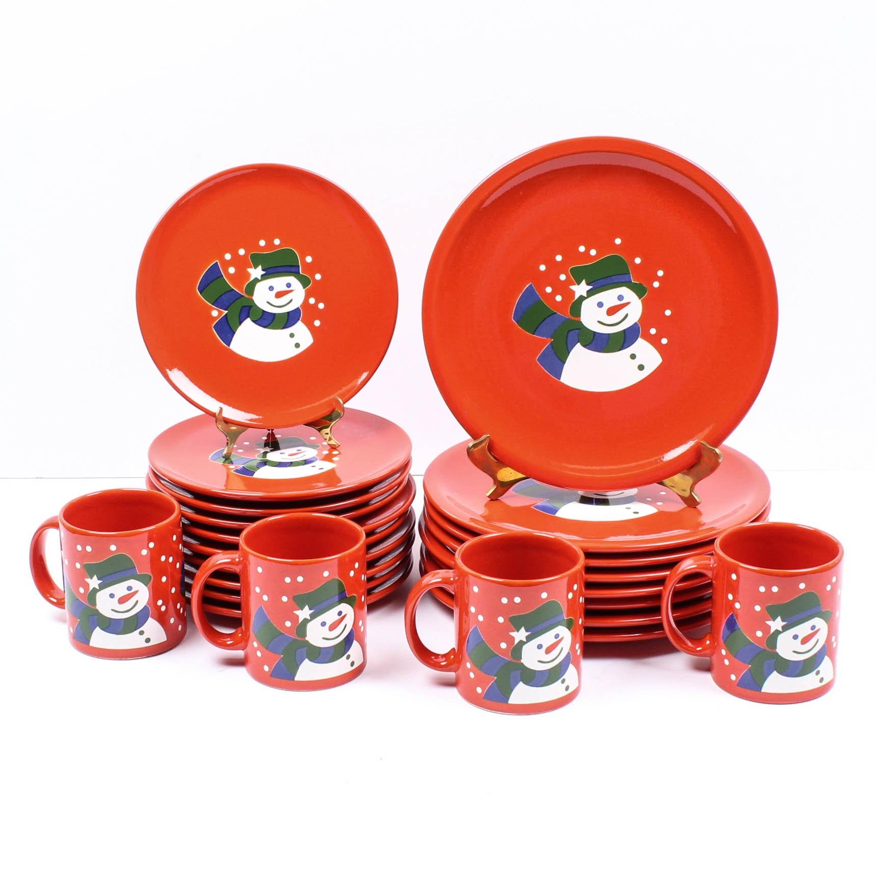 "Waechtersbach German Ceramic Tableware ""Snowman"""