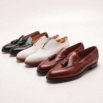 370844a0061 Men s Church s Brown and Black Leather Oxfords   EBTH