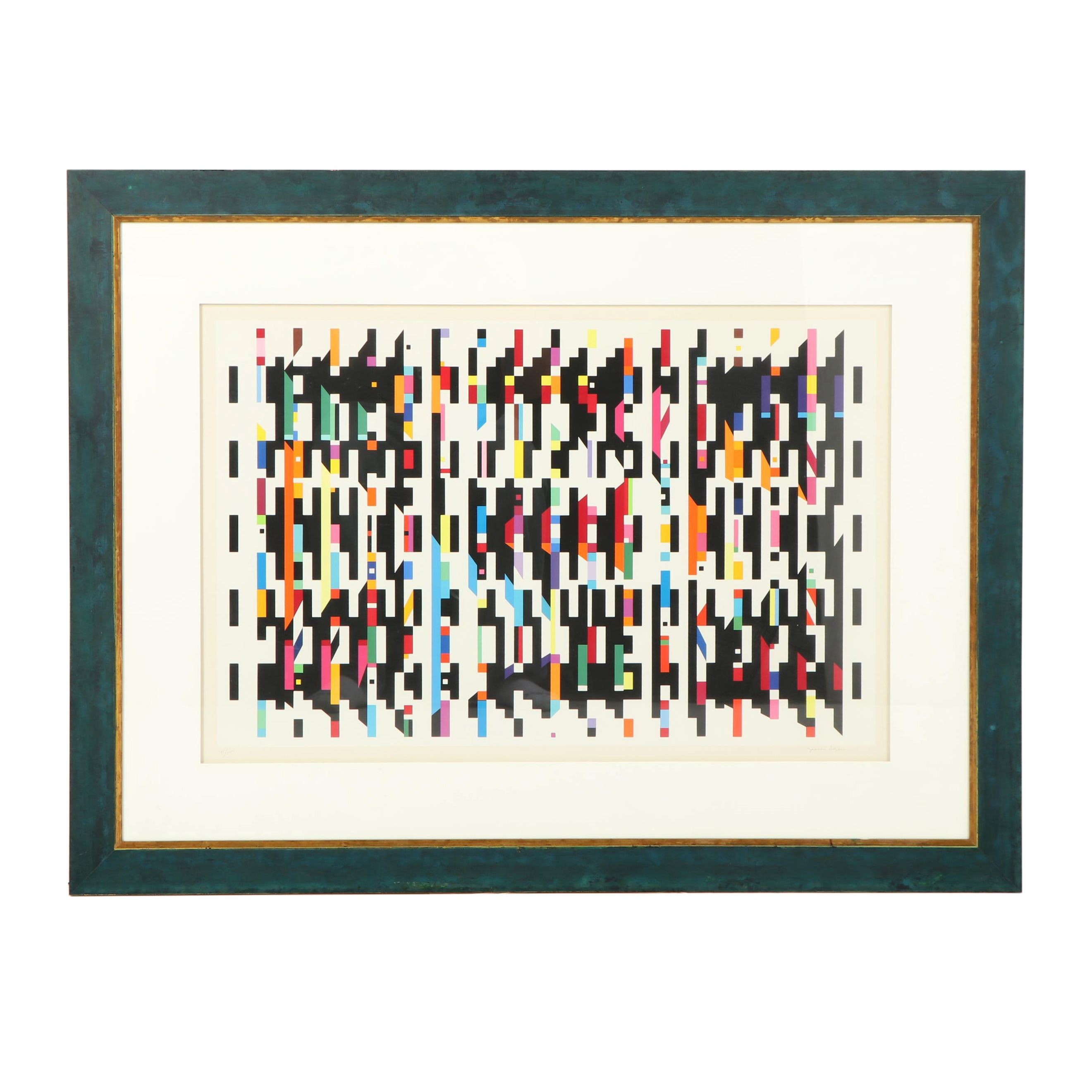 "Yaacov Agam Serigraph from the ""Hommage a G.B."" Series"