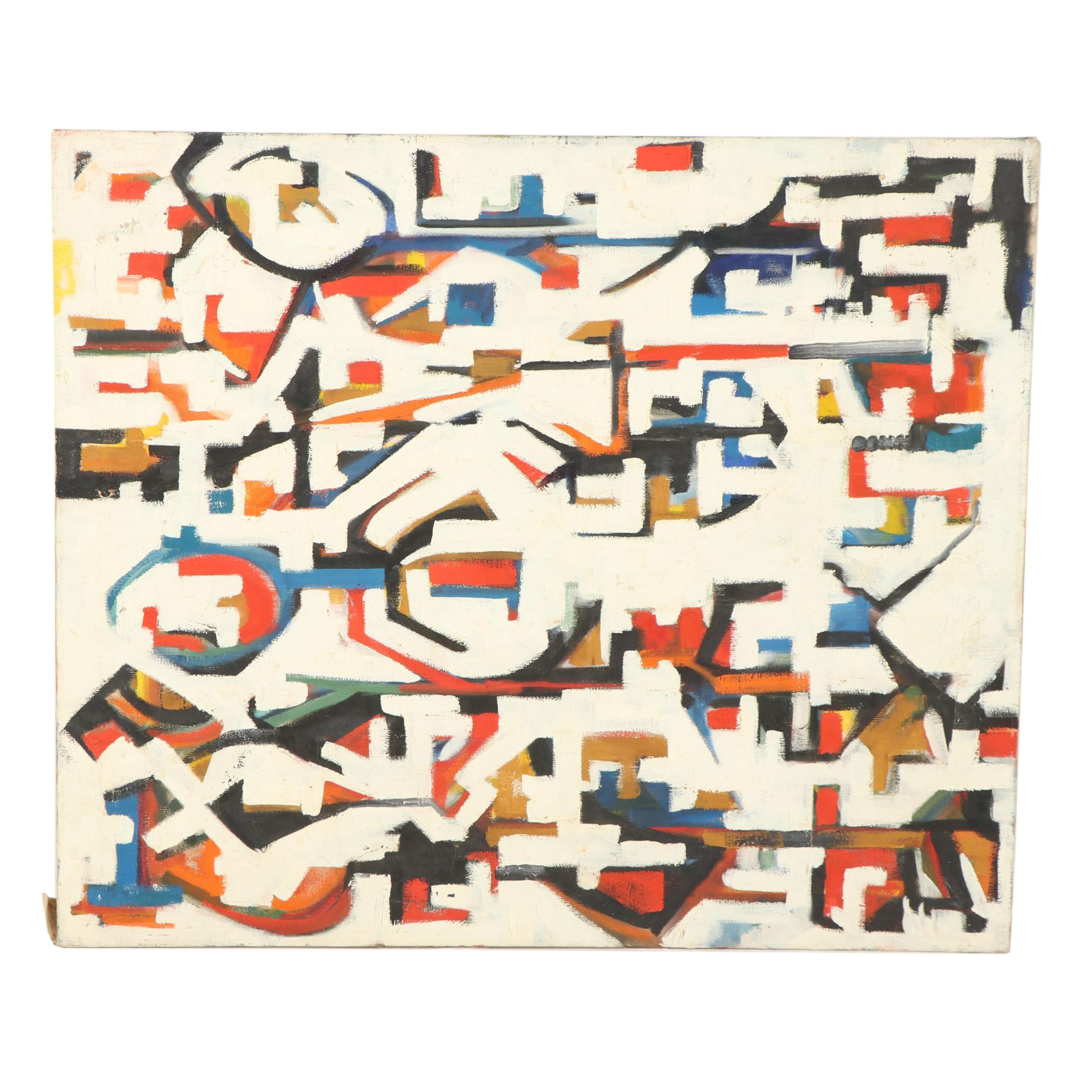 American School Abstract Oil Painting