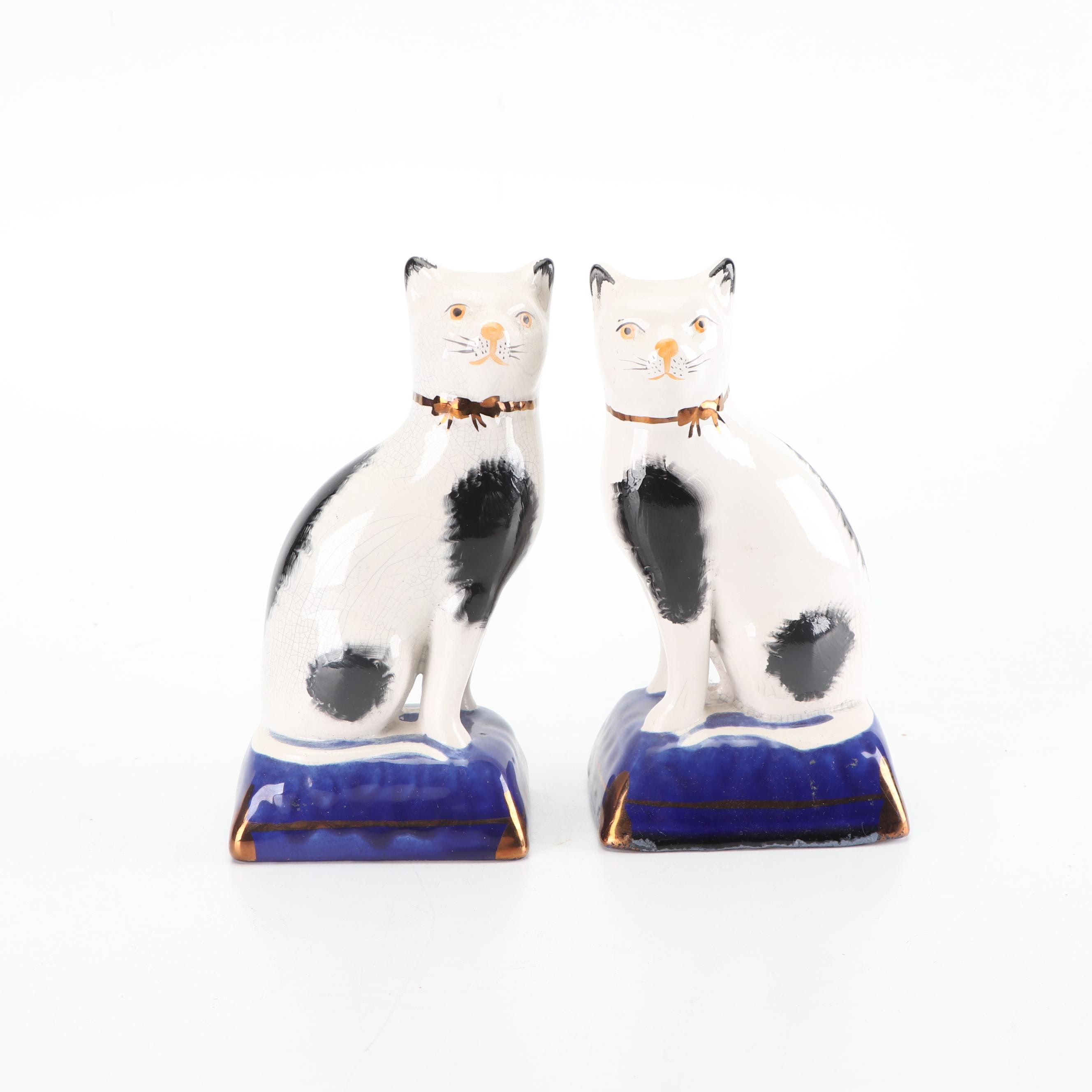 Staffordshire Style Cat Figurines