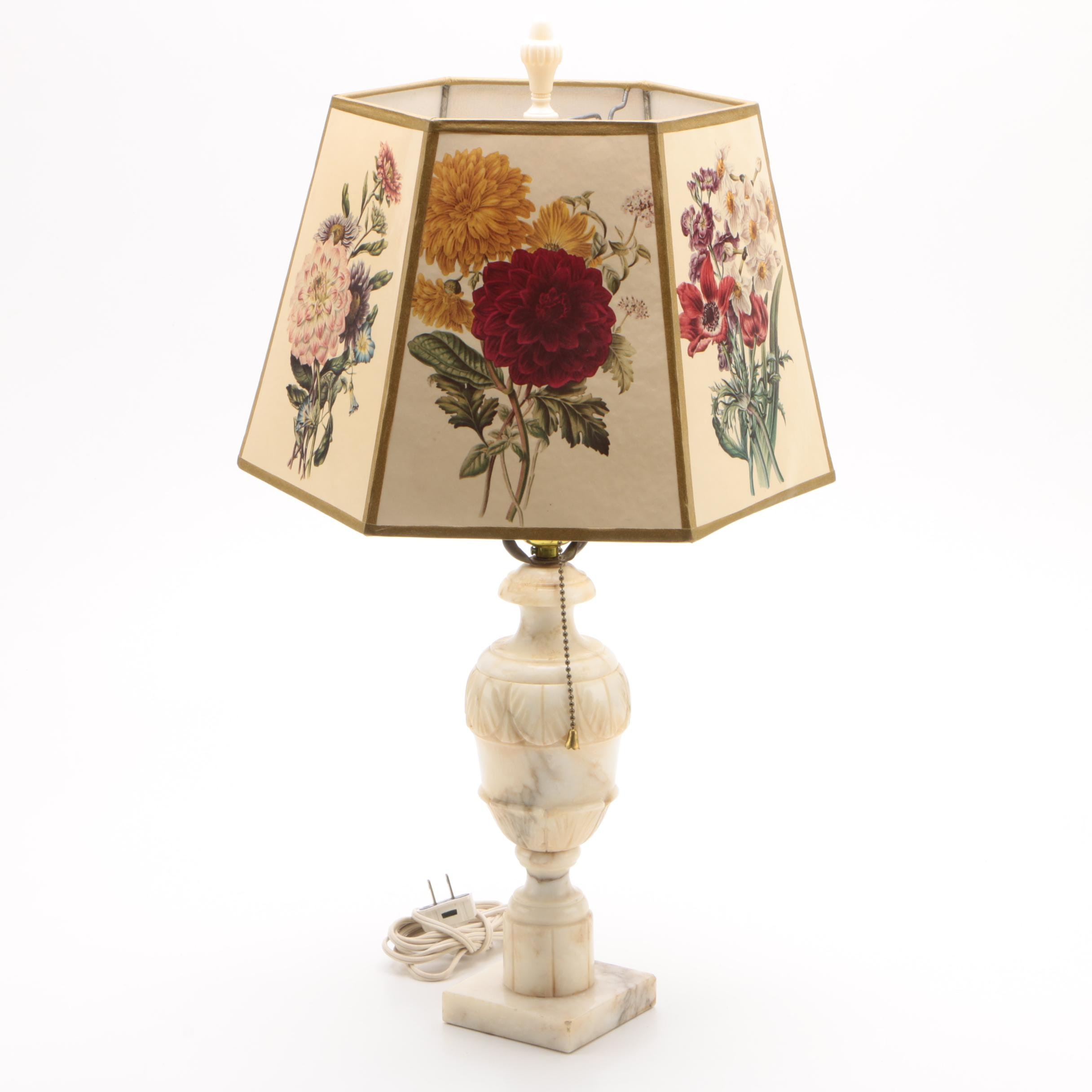 Marble Composite Table Lamp with Shade