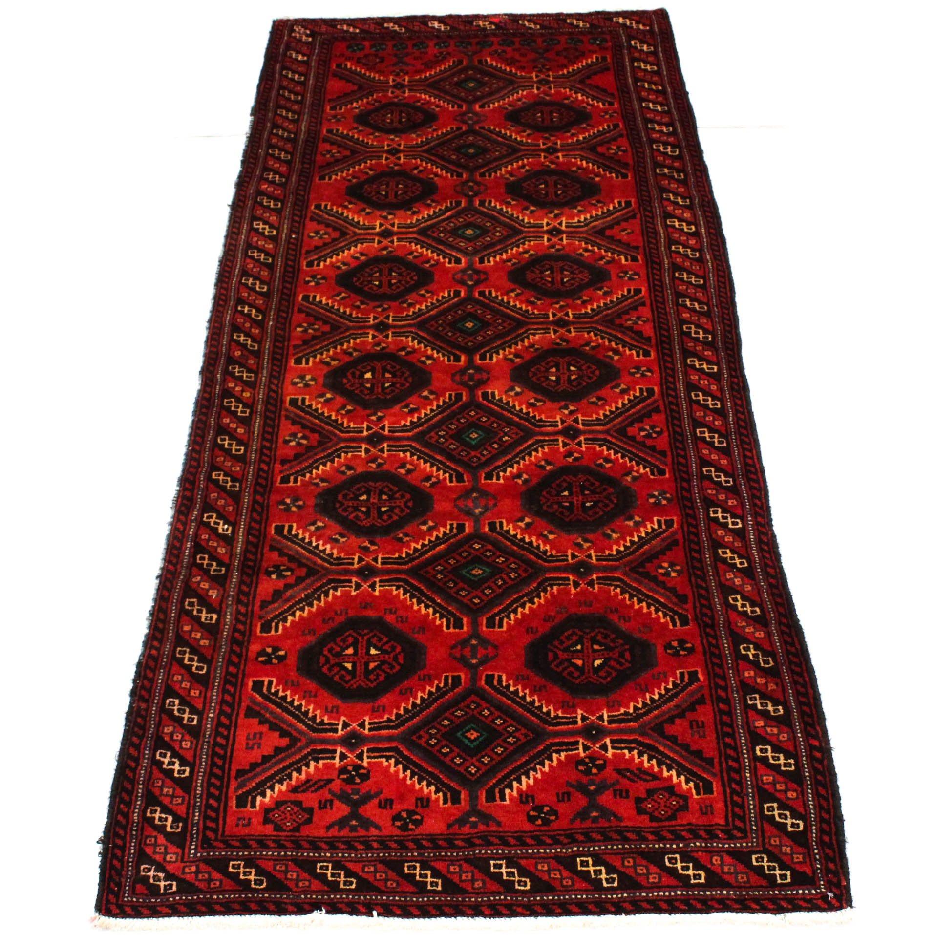 3' x 9' Semi-Antique Hand-Knotted Persian Northwest Carpet Runner