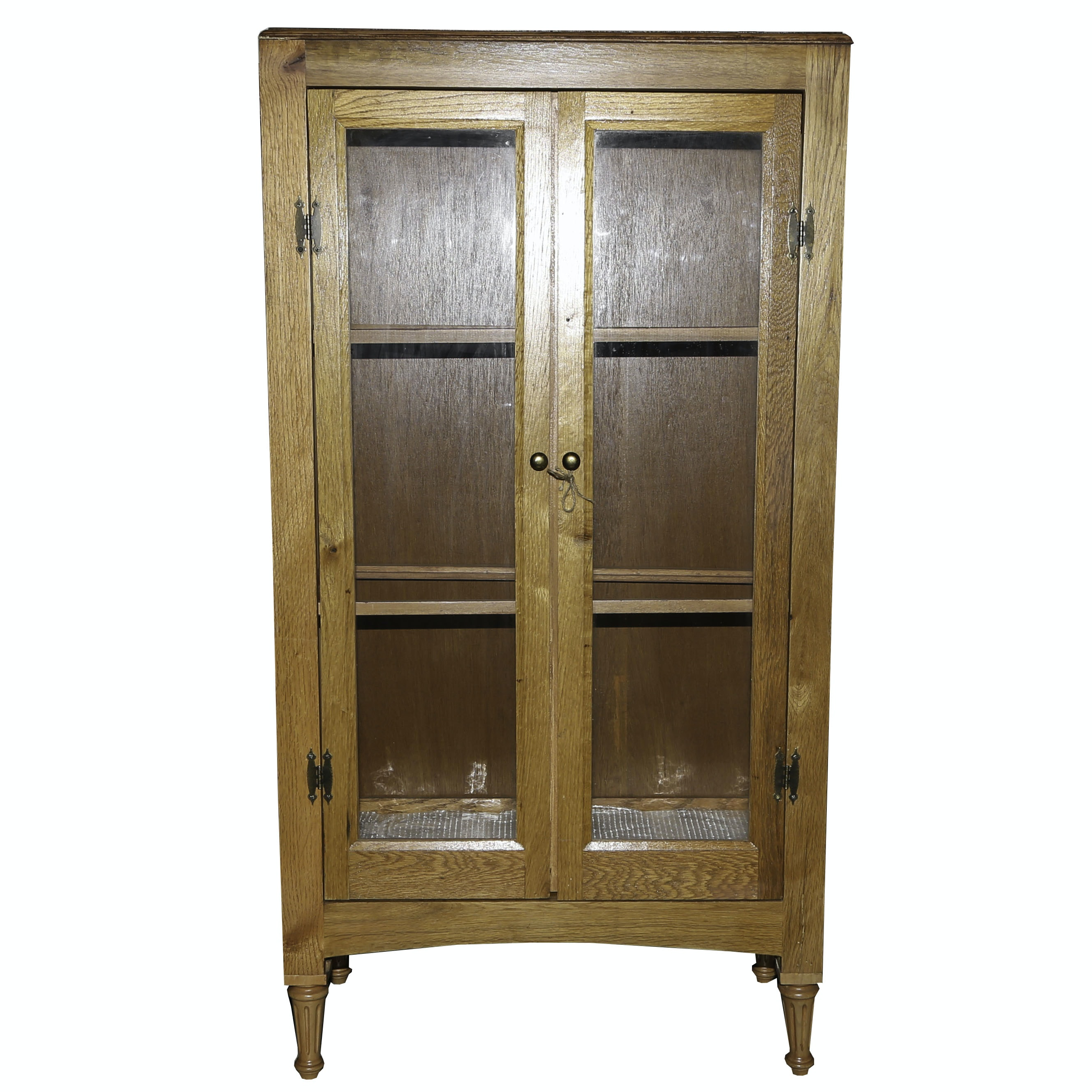 Oak Display Cabinet, Late 20th Century