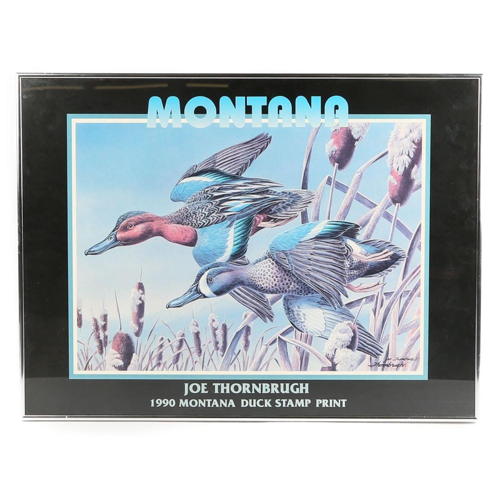 """Joe Thornbrugh Offset Lithograph """"Montana"""""""