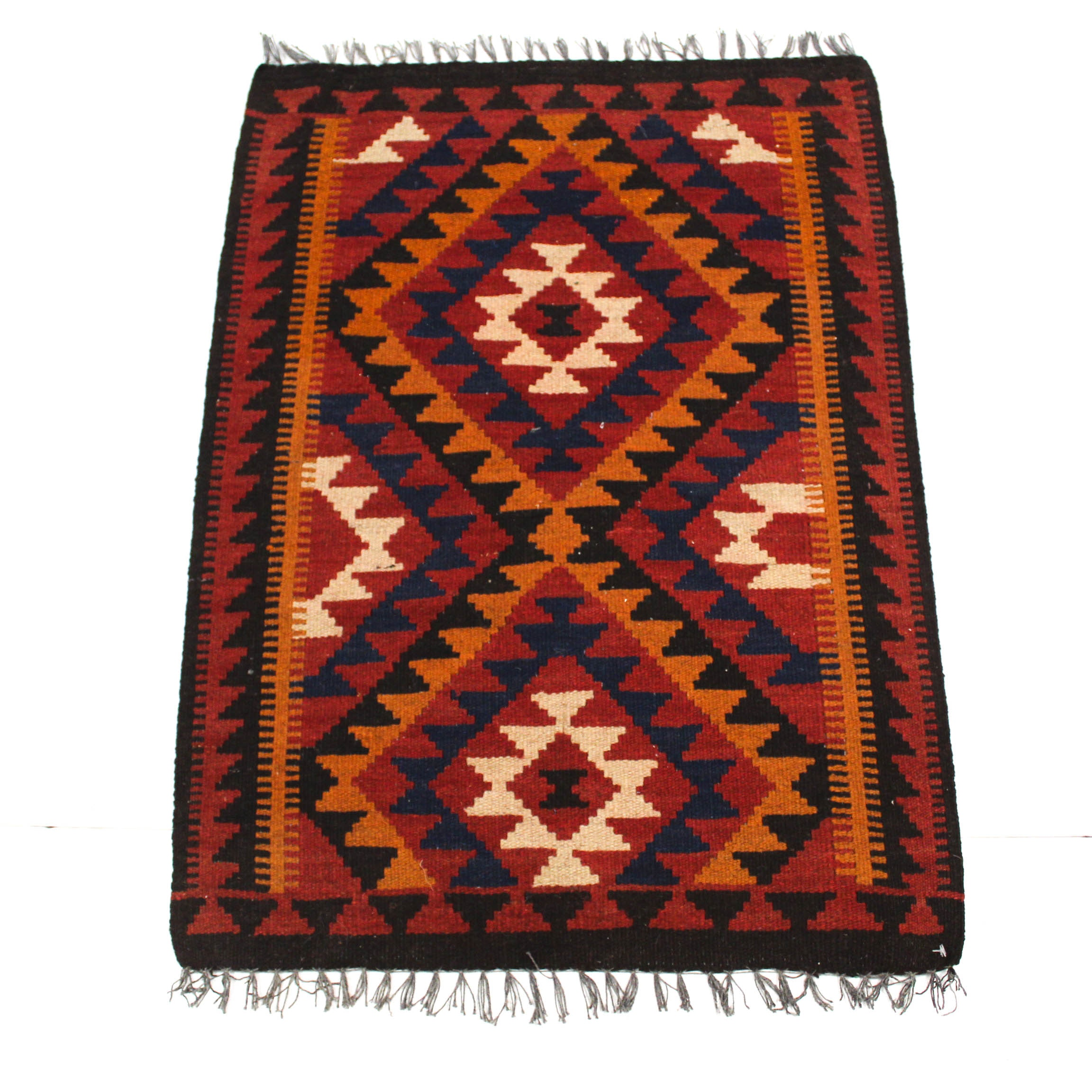 2'4 x 3'5 Semi-Antique Hand-Knotted Turkish Kilim Rug