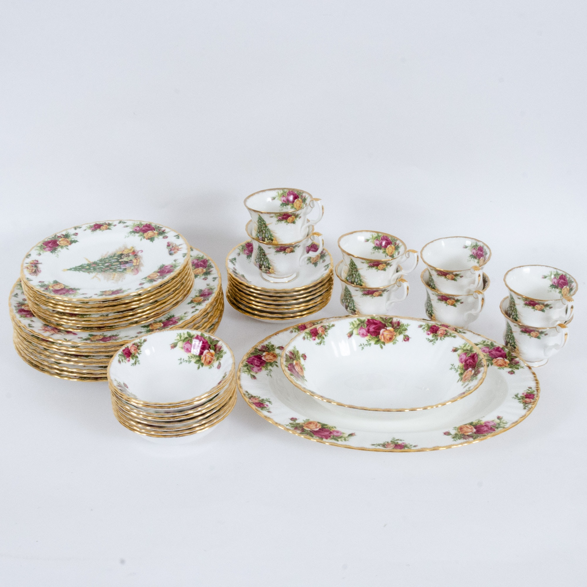 "Royal Albert ""Old Country Roses"" and ""Christmas Magic"" Bone China Dinnerware"