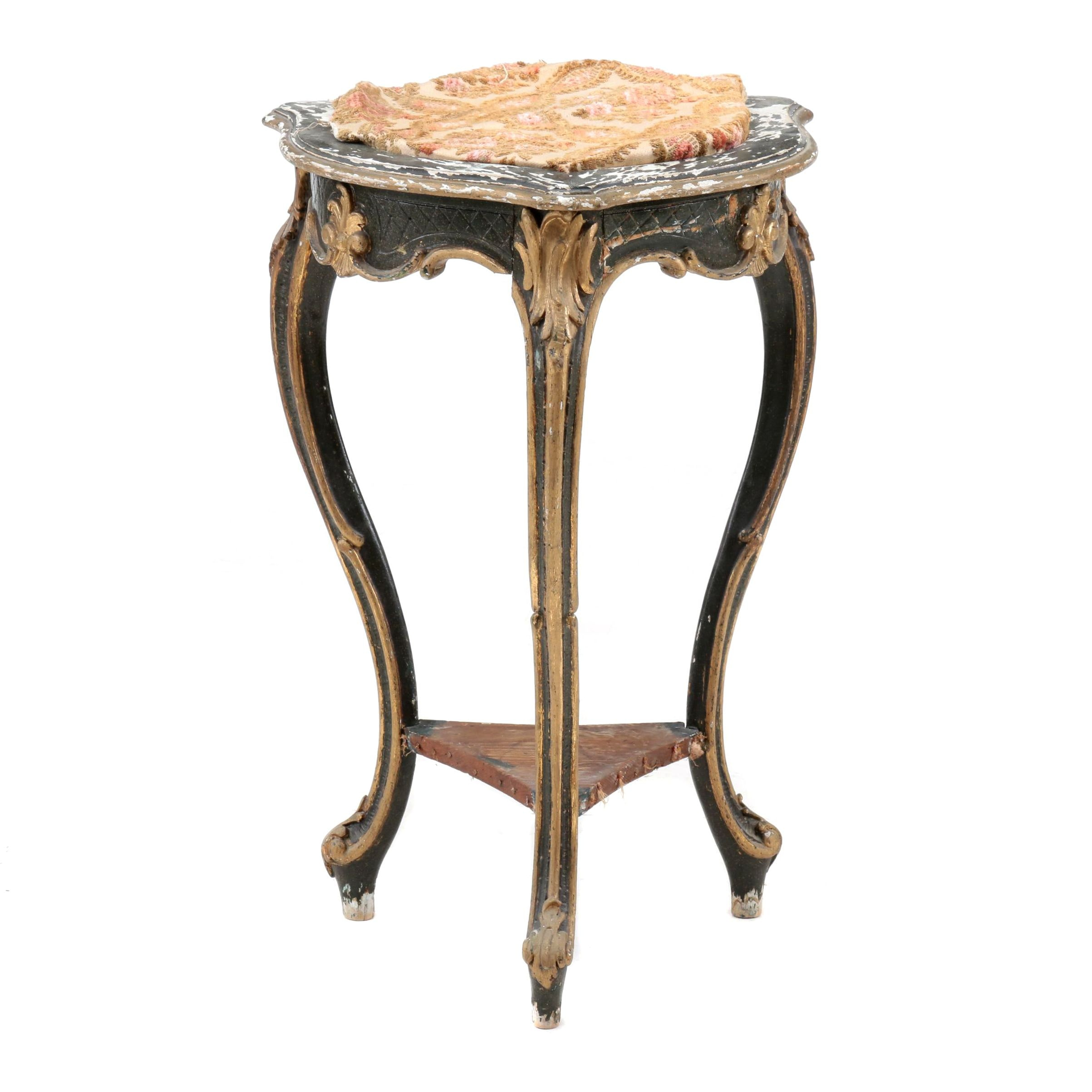 Louis XV Style Giltwood and Painted Occasional Table, Early/Mid-20th Century