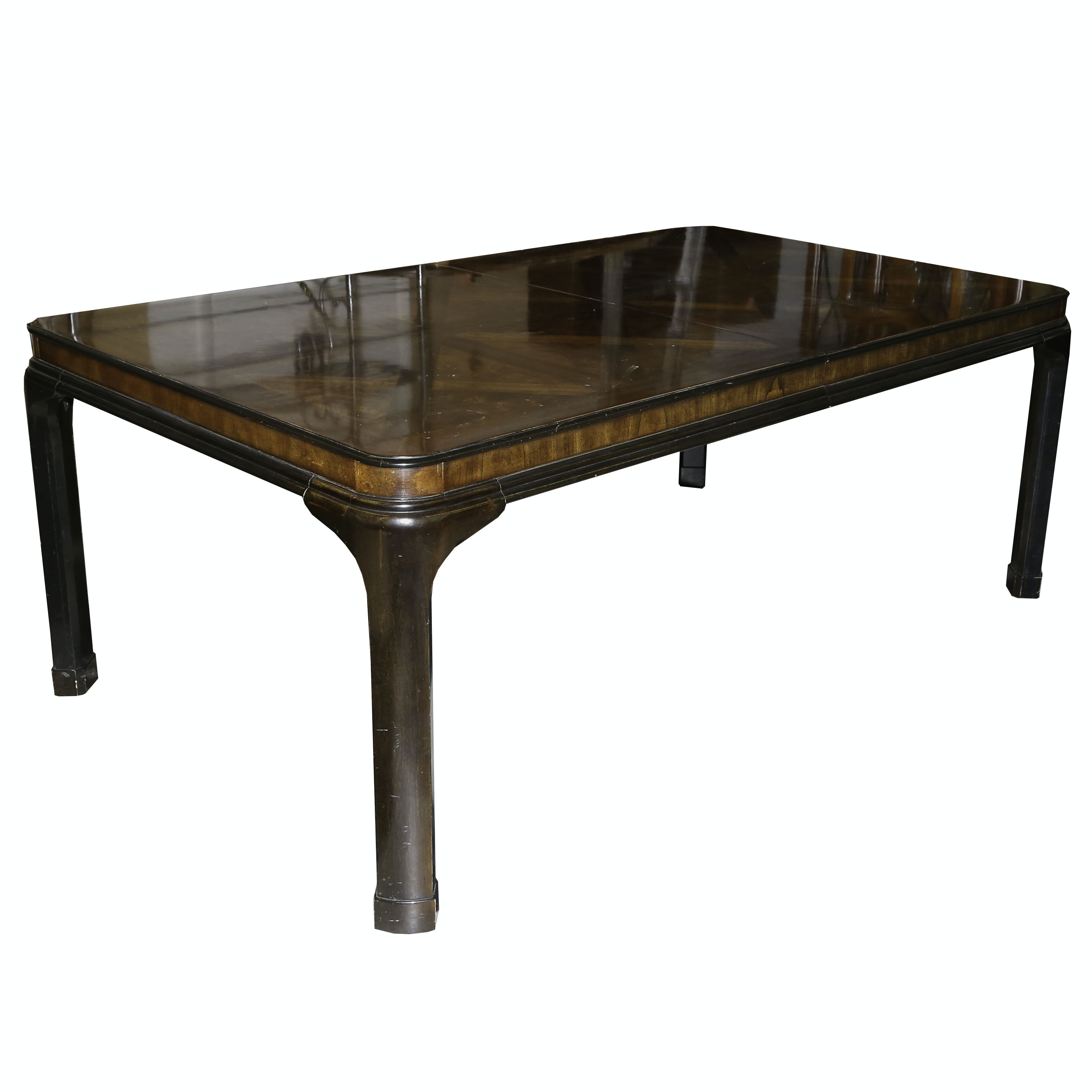 "Cherry and Burl ""Connoisseur Collection"" Dining Table by Drexel, 20th Century"