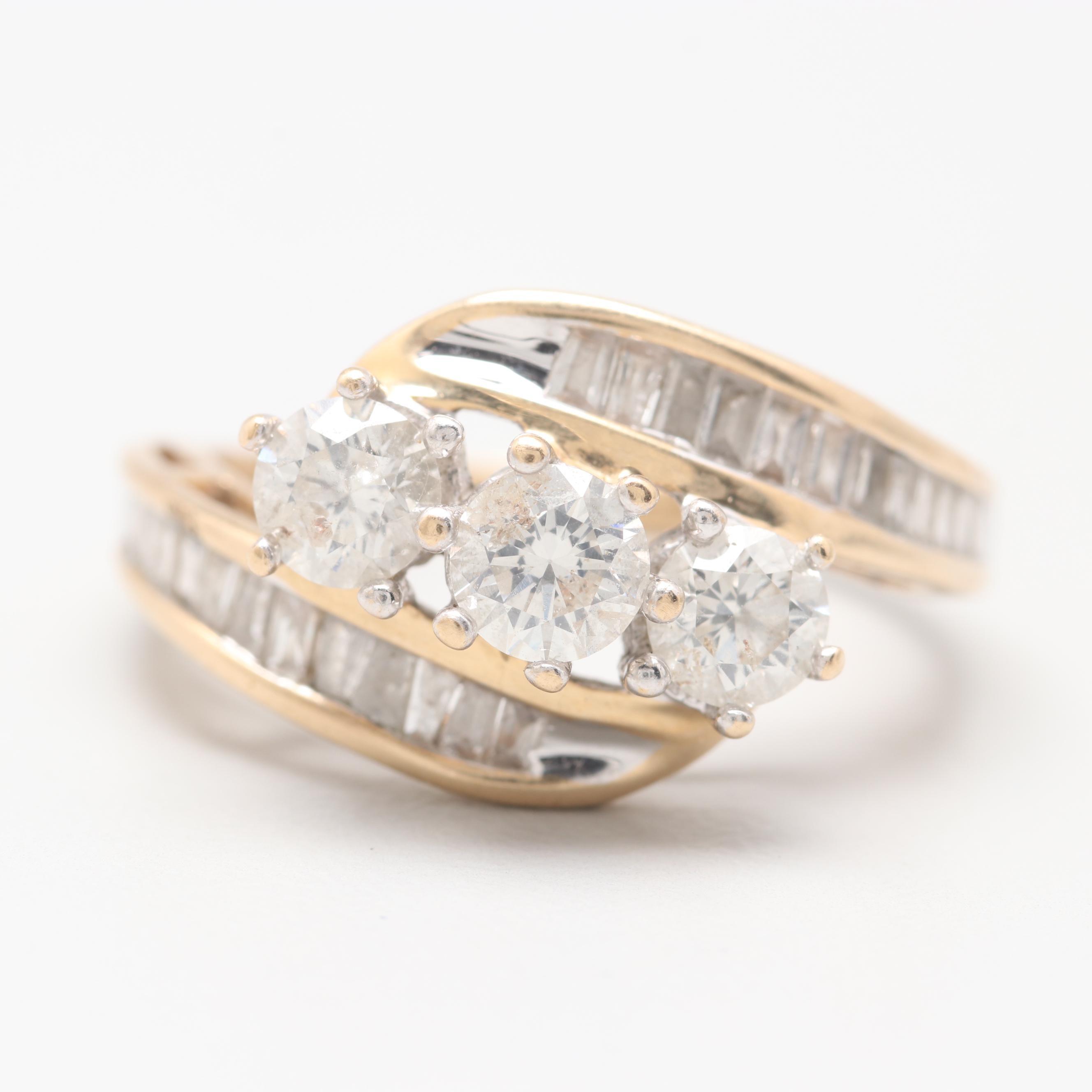 14K Yellow Gold 1.49 CTW Diamond Ring