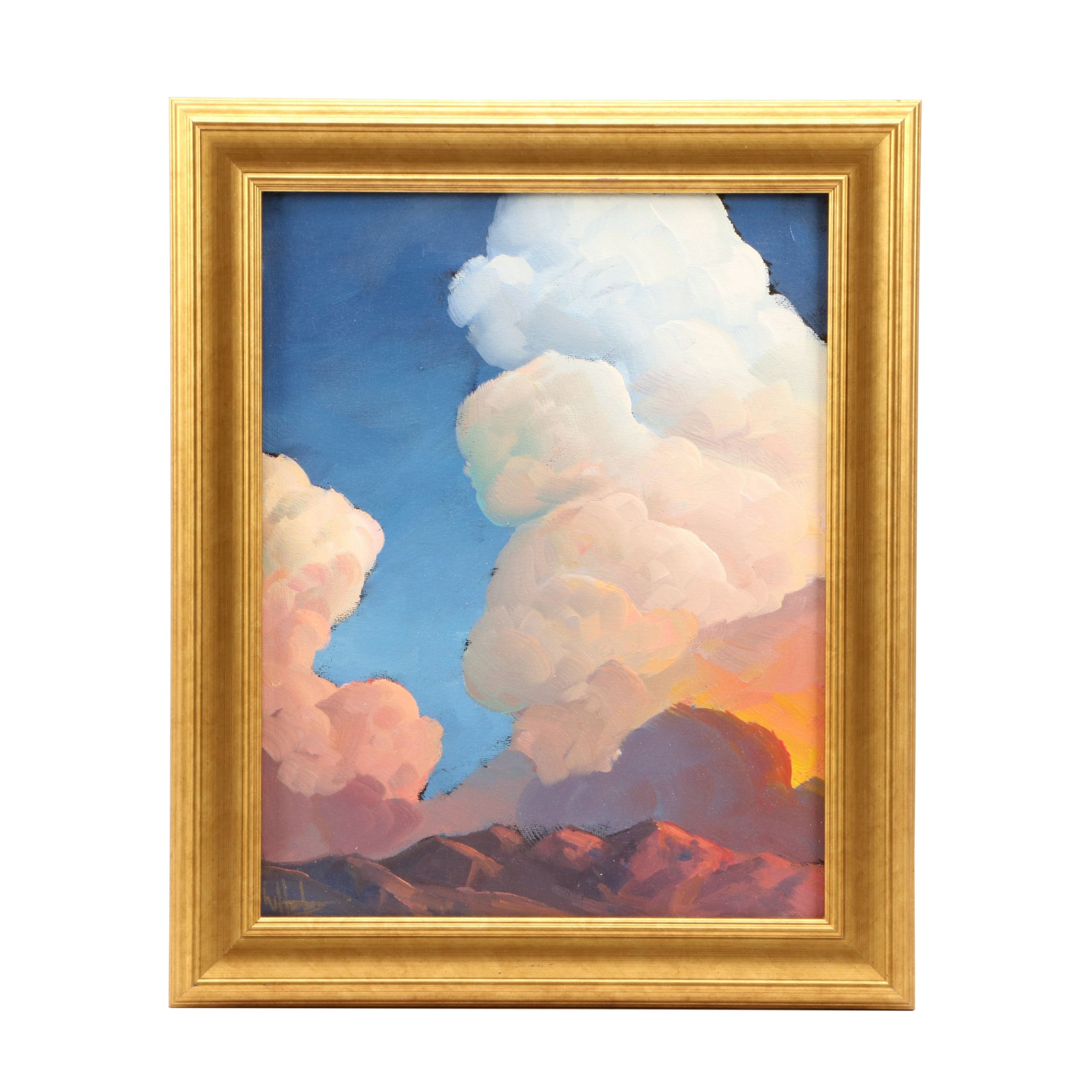 William Hawkins Oil Painting of Dramatic Cloud Formation