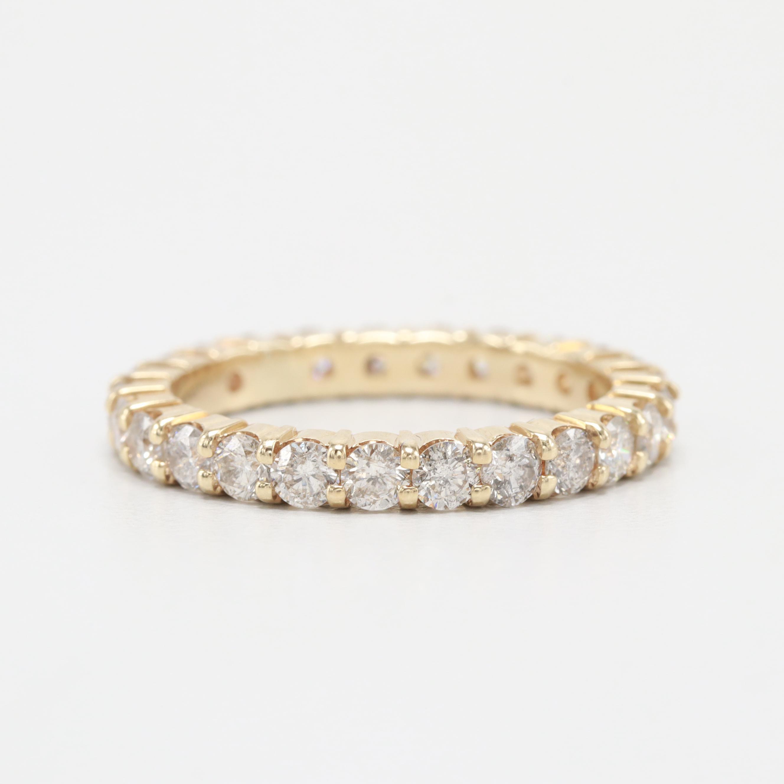 14K Yellow Gold 1.75 CTW Diamond Eternity Ring