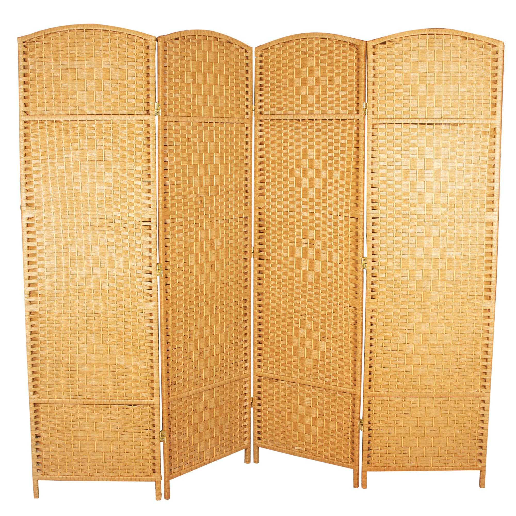 Woven Wood Room Divider, 21st Century