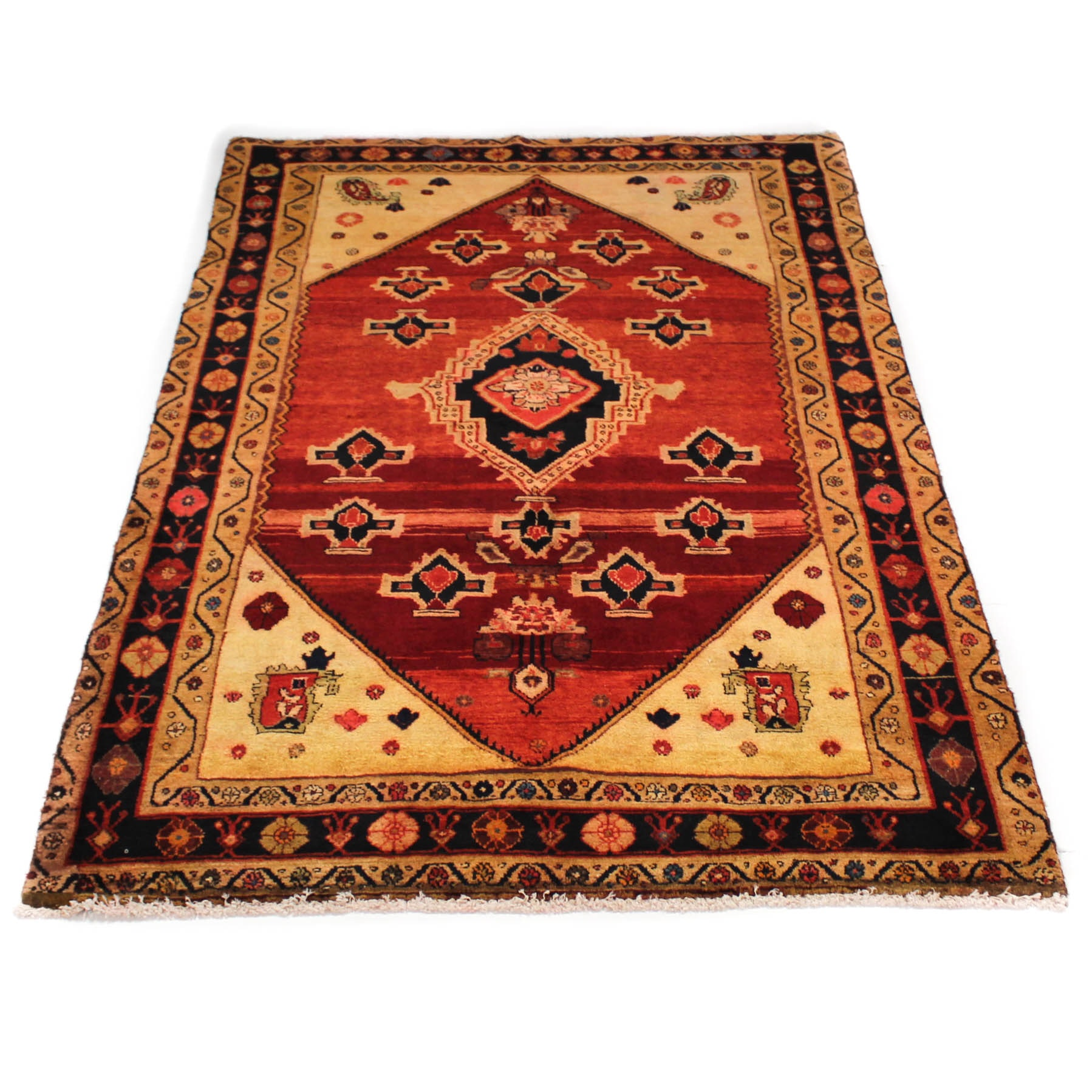 5' x 8'2 Semi-Antique Hand-Knotted Persian Northwest Rug