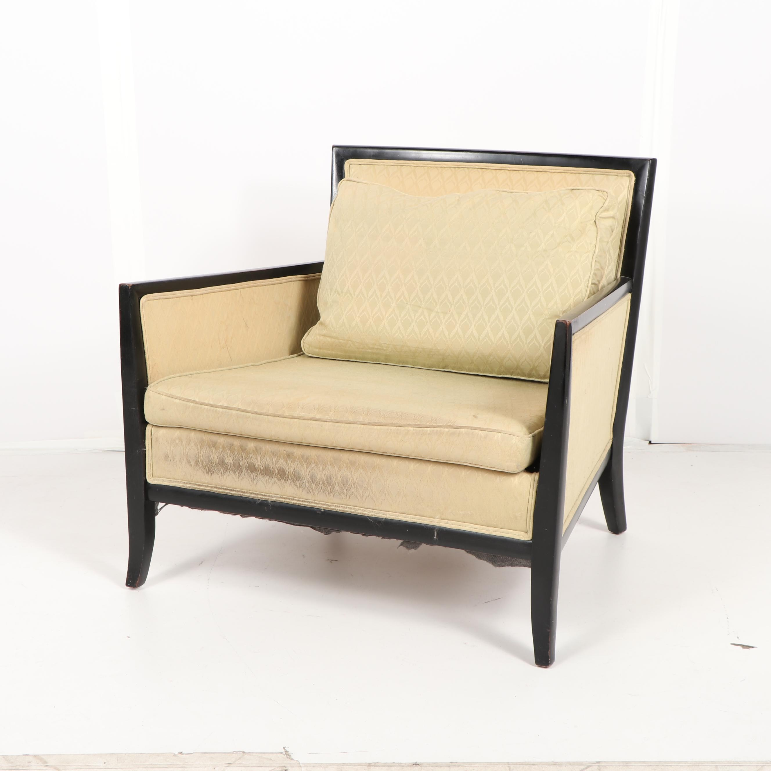 Painted Frame Upholstered Armchair, Late 20th Century