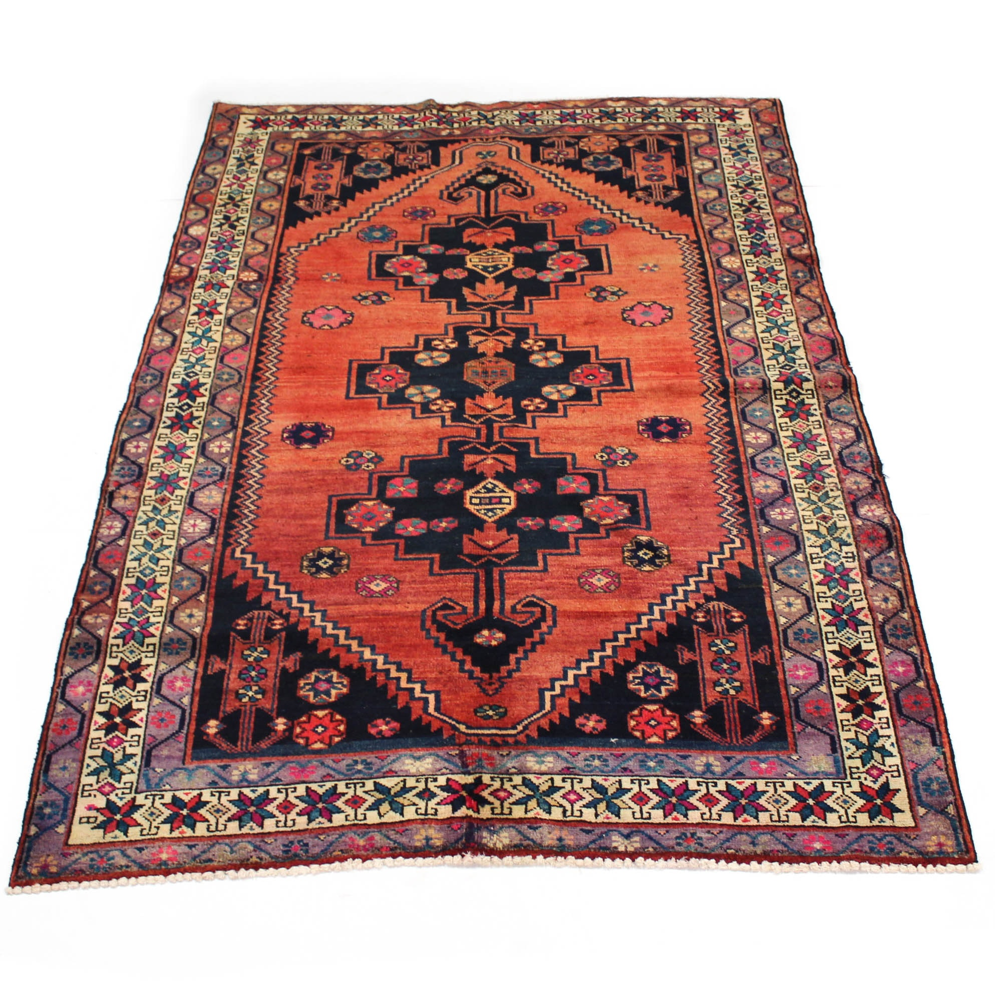 5'1 x 8'2 Semi-Antique Hand-Knotted Persian Northwest Rug
