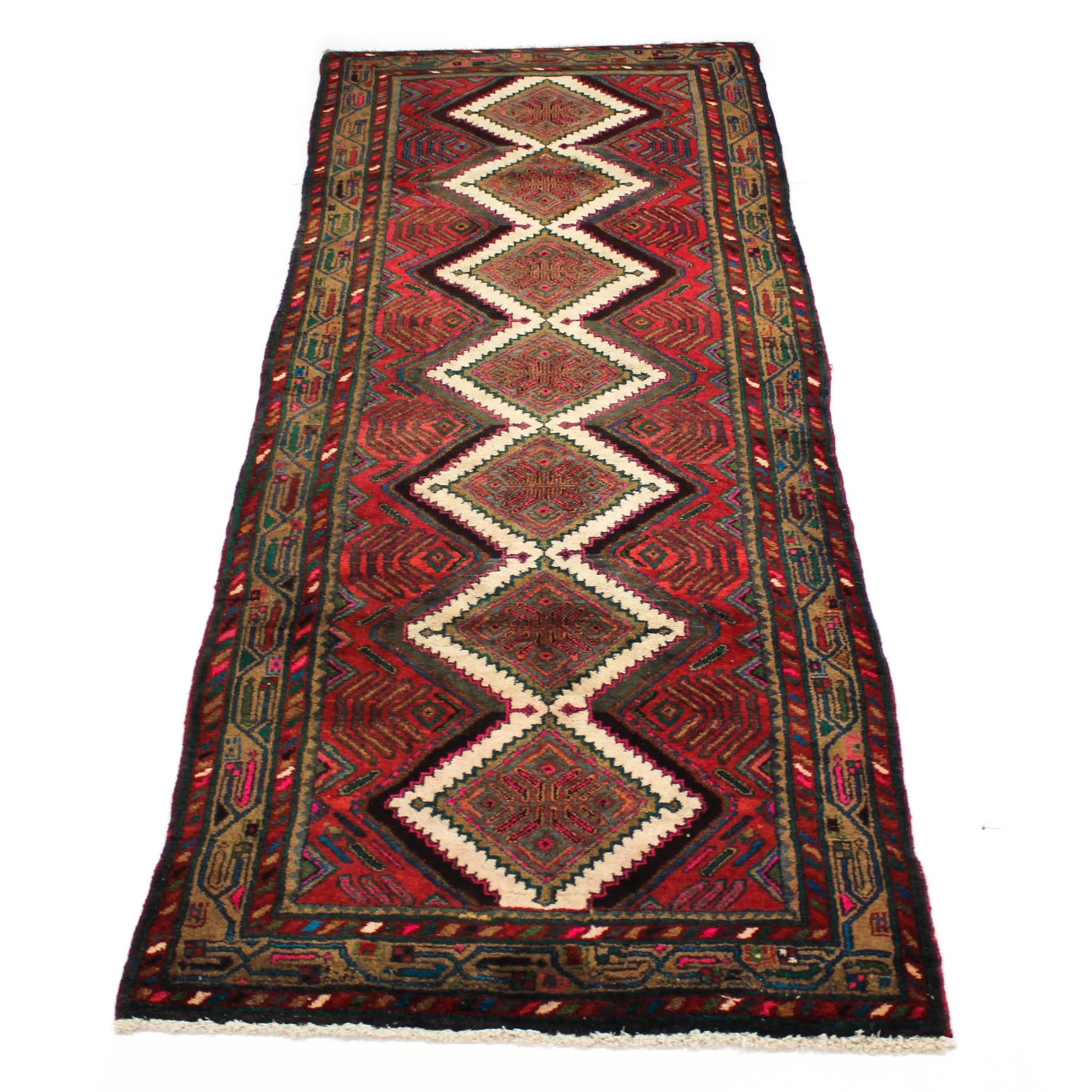 3'6 x 9' Semi-Antique Northwest Persian Chenar Carpet Runner