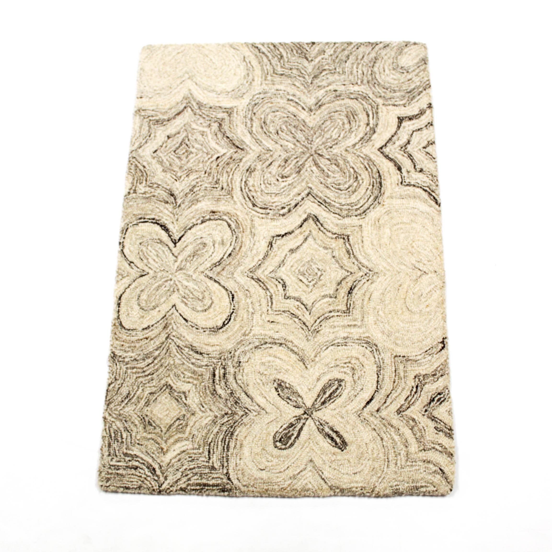 2' x 3' Fine Hand Tufted Mid Century Modern Style Rug