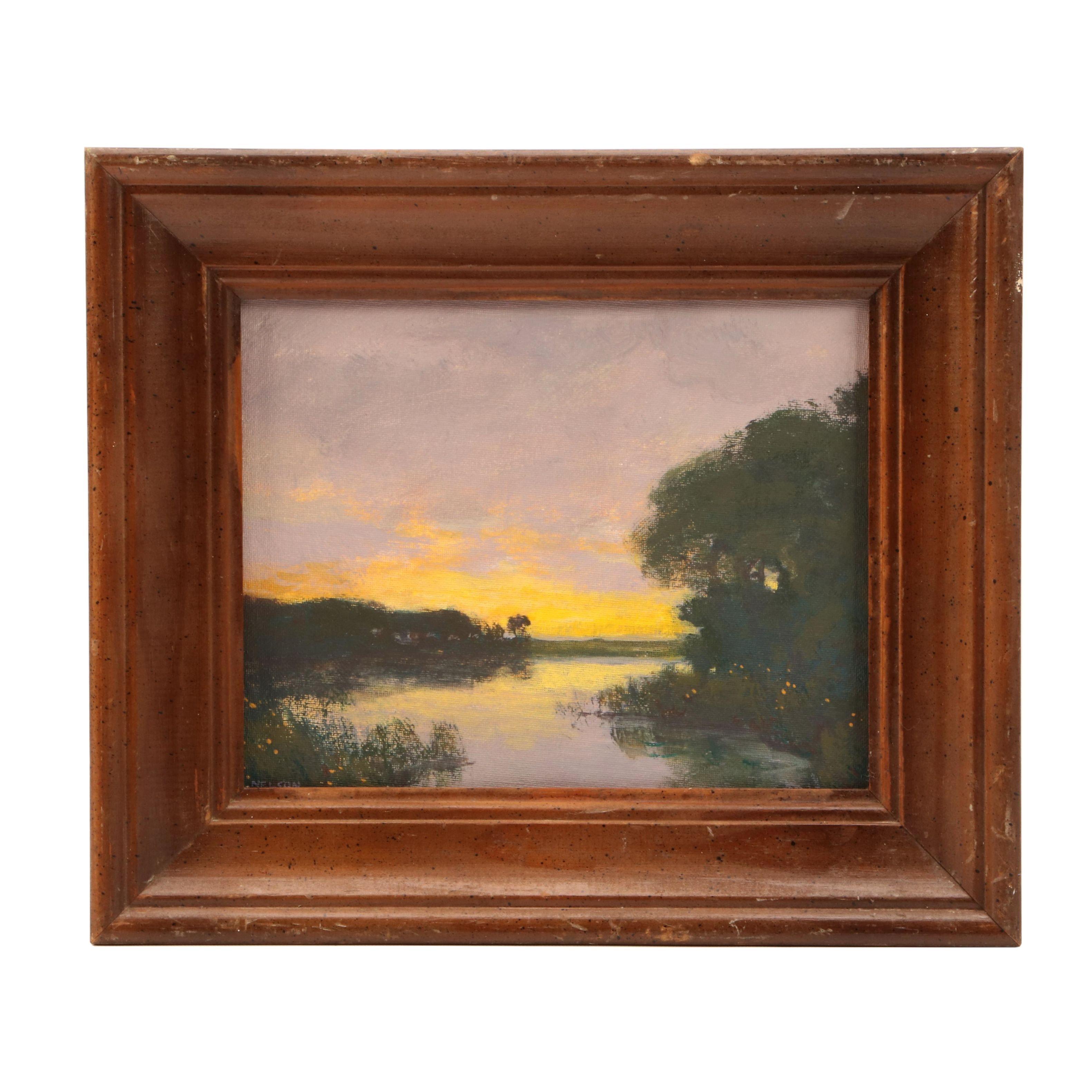 William Nelson Landscape Oil Painting