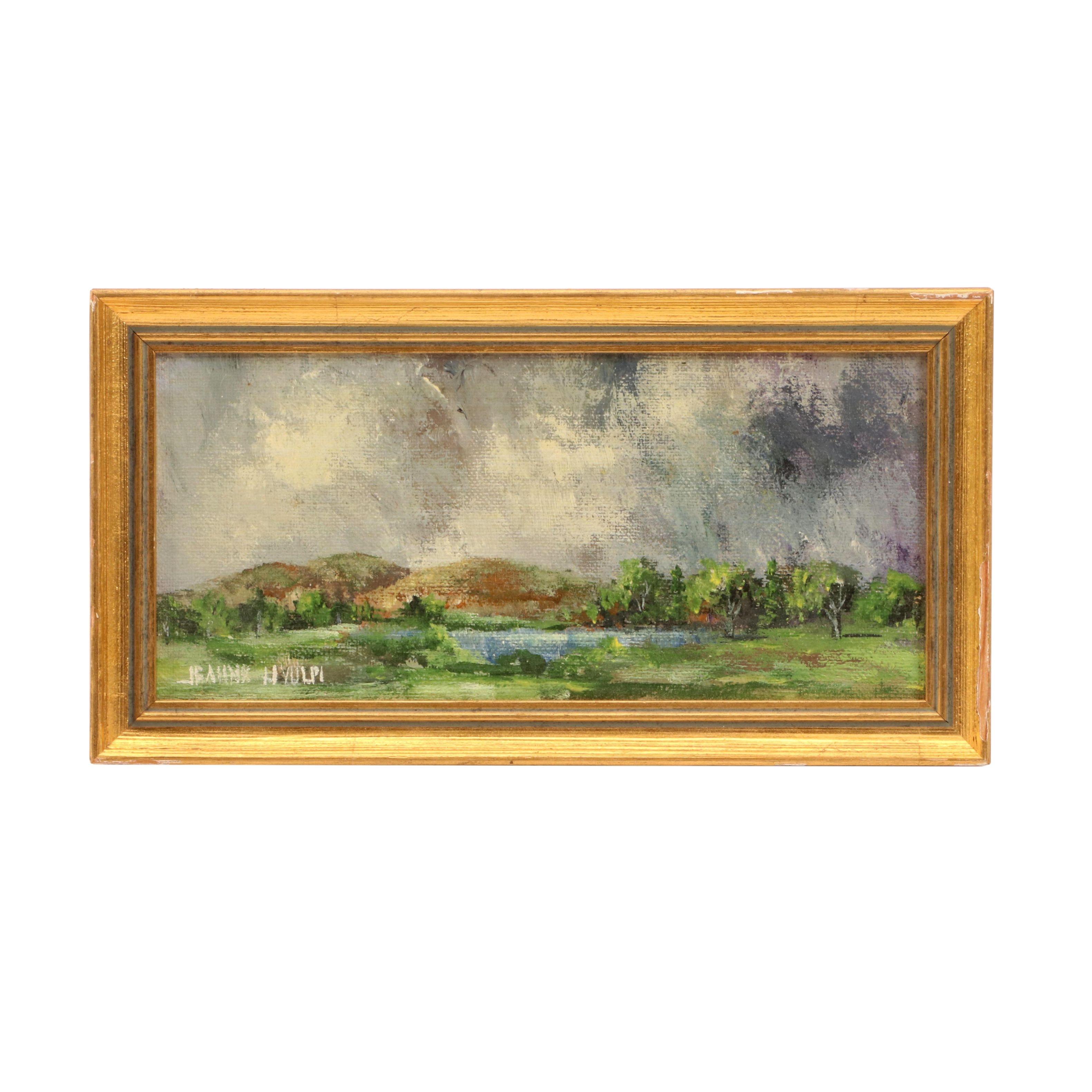 Miniature Oil Landscape Painting