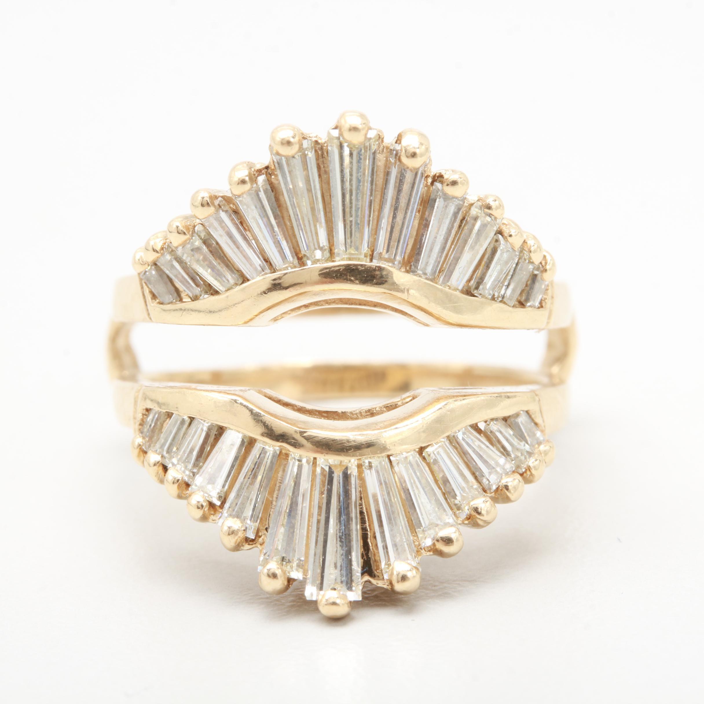 14K Yellow Gold 2.00 CTW Diamond Ring Guard