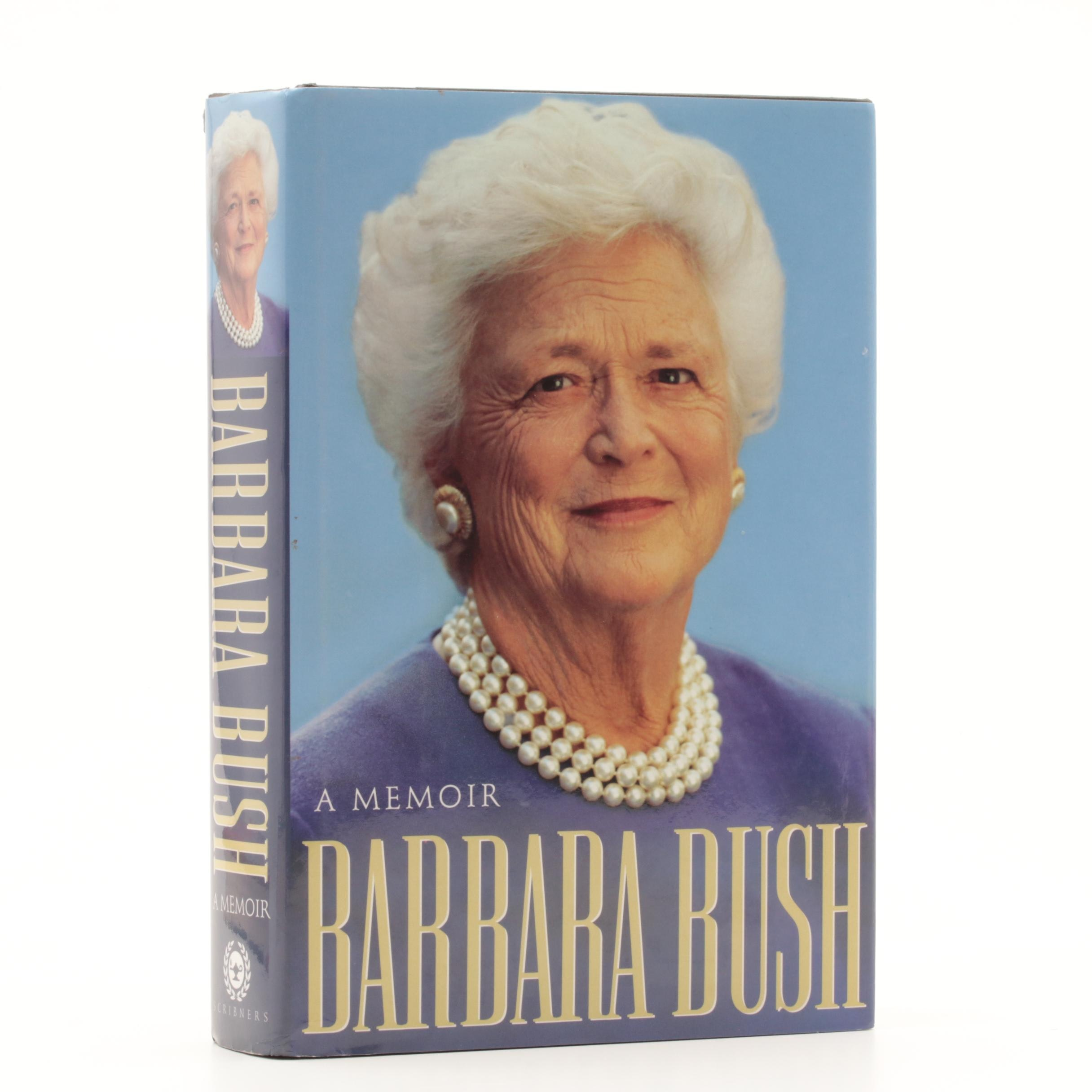 "1994 Signed ""A Memoir "" by Barbara and George Bush"