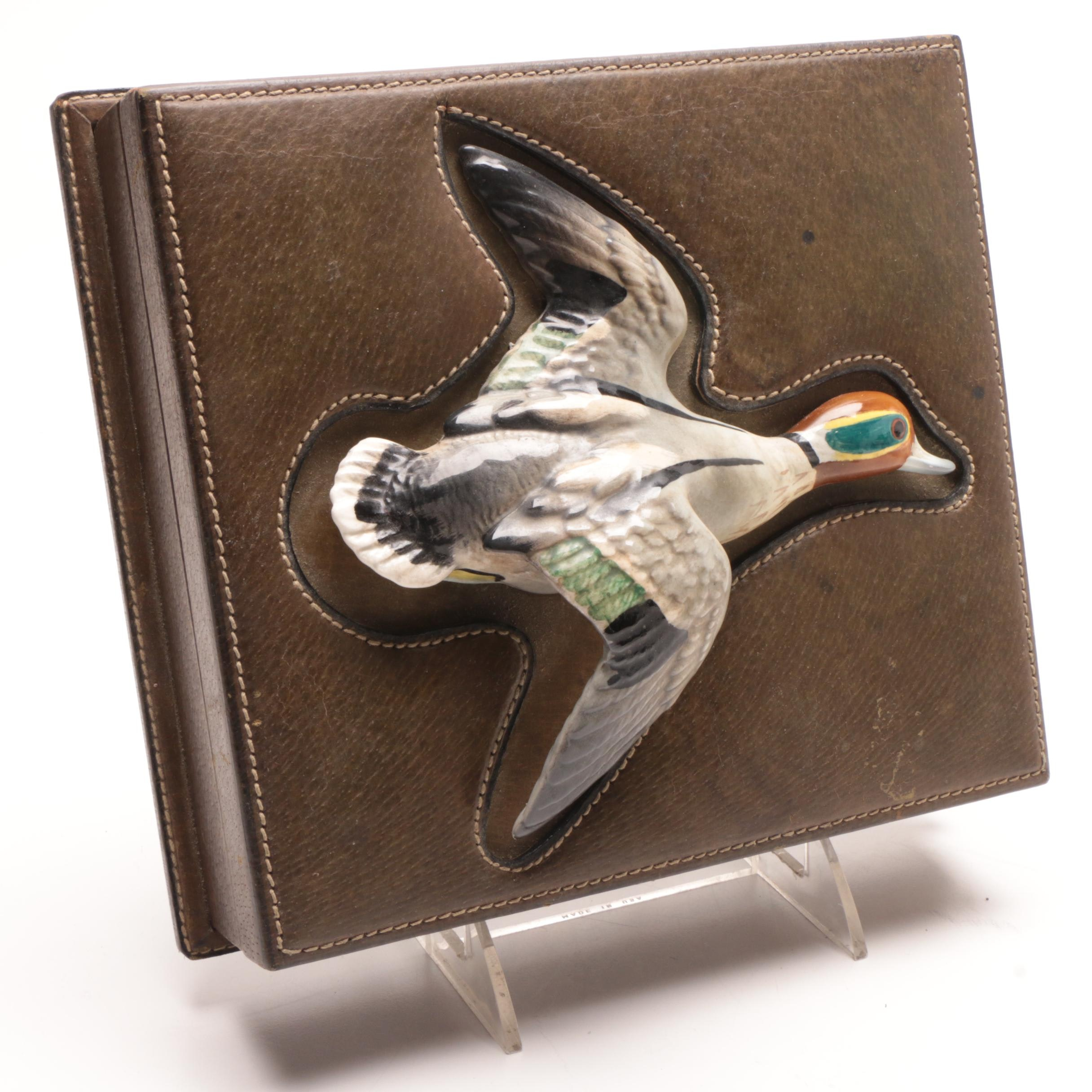 Men's Gucci Leather Jewelry Box with Ceramic Duck Handle