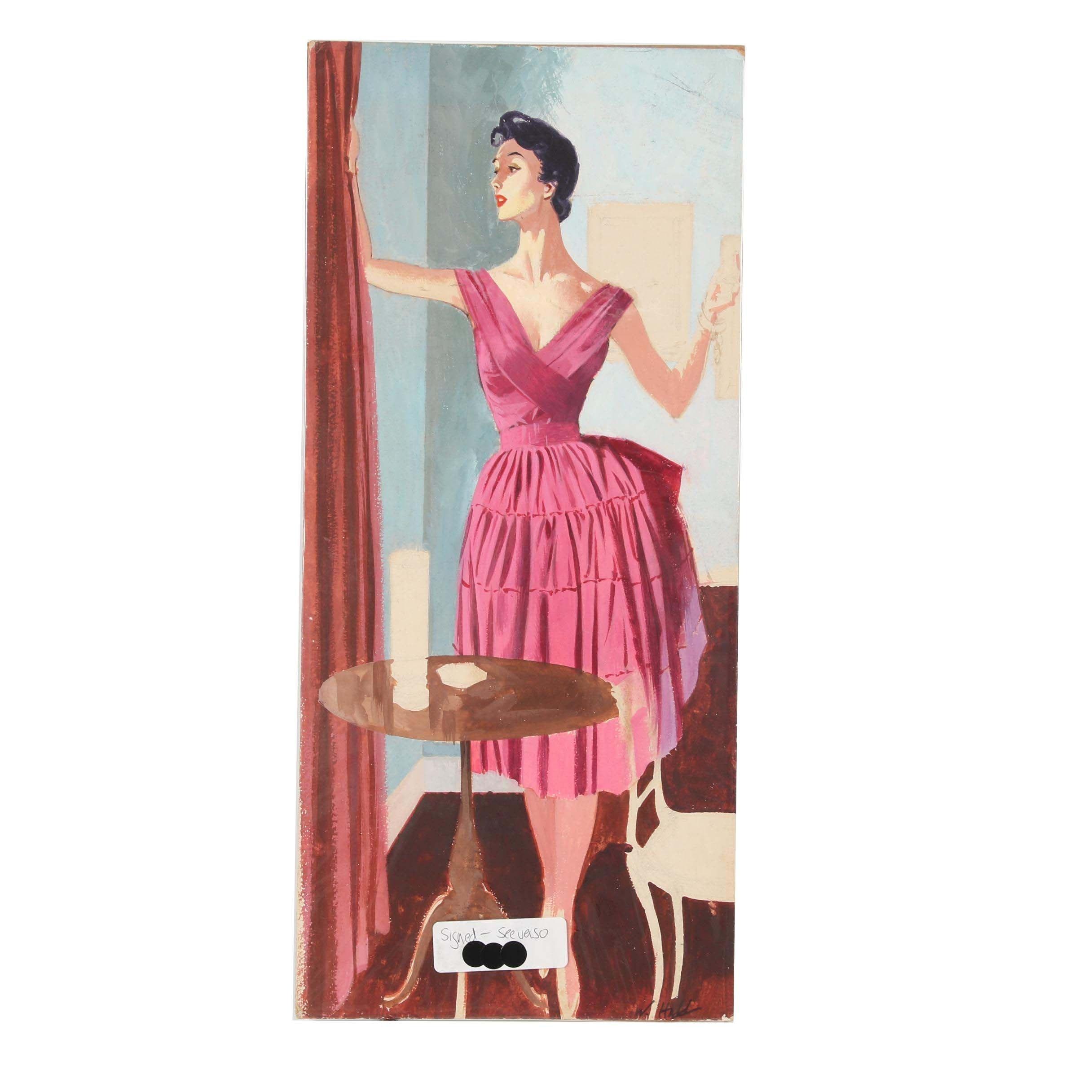 Wayne Hall Gouache Advertisement Illustration