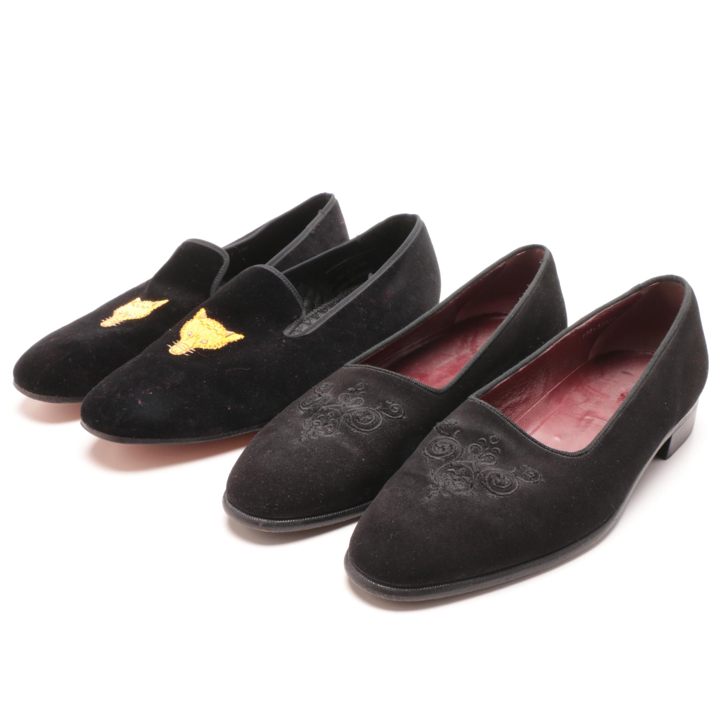Paul Stuart and Church's Velvet Loafers