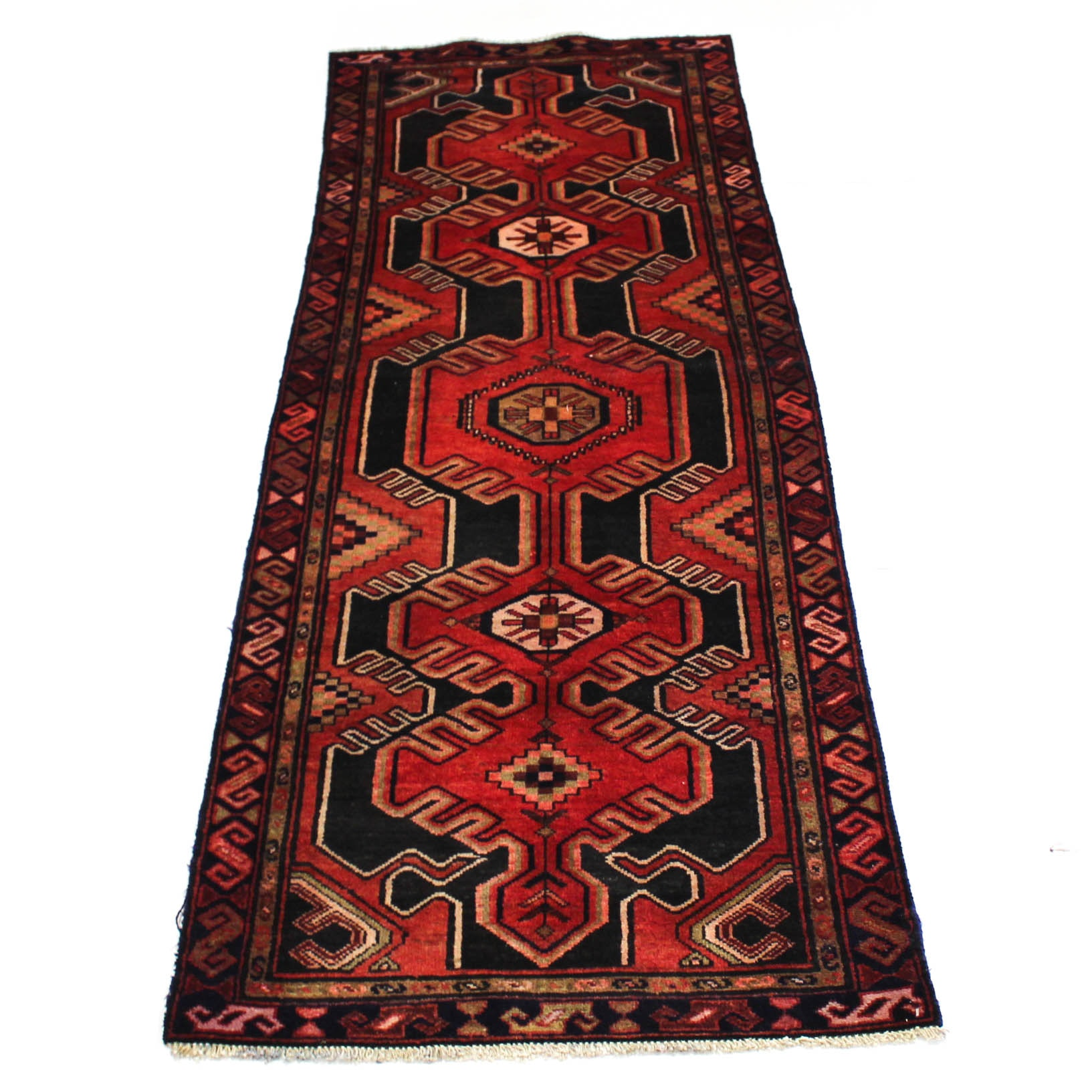 3'6 x 9' Semi-Antique Hand-Knotted Persian Northwest Carpet Runner
