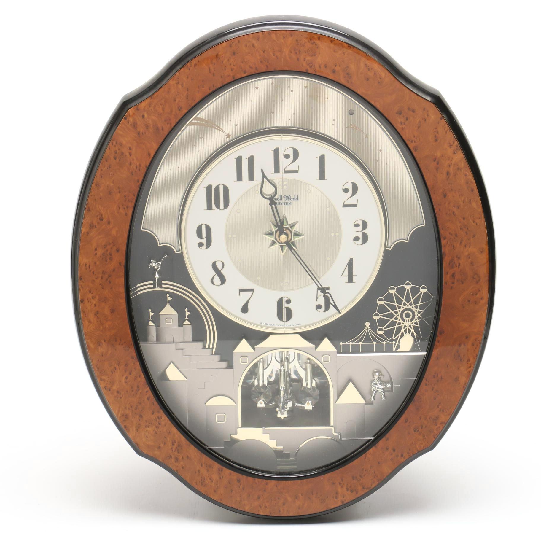 """Rhythm """"Small World"""" Musical Wall Clock"""