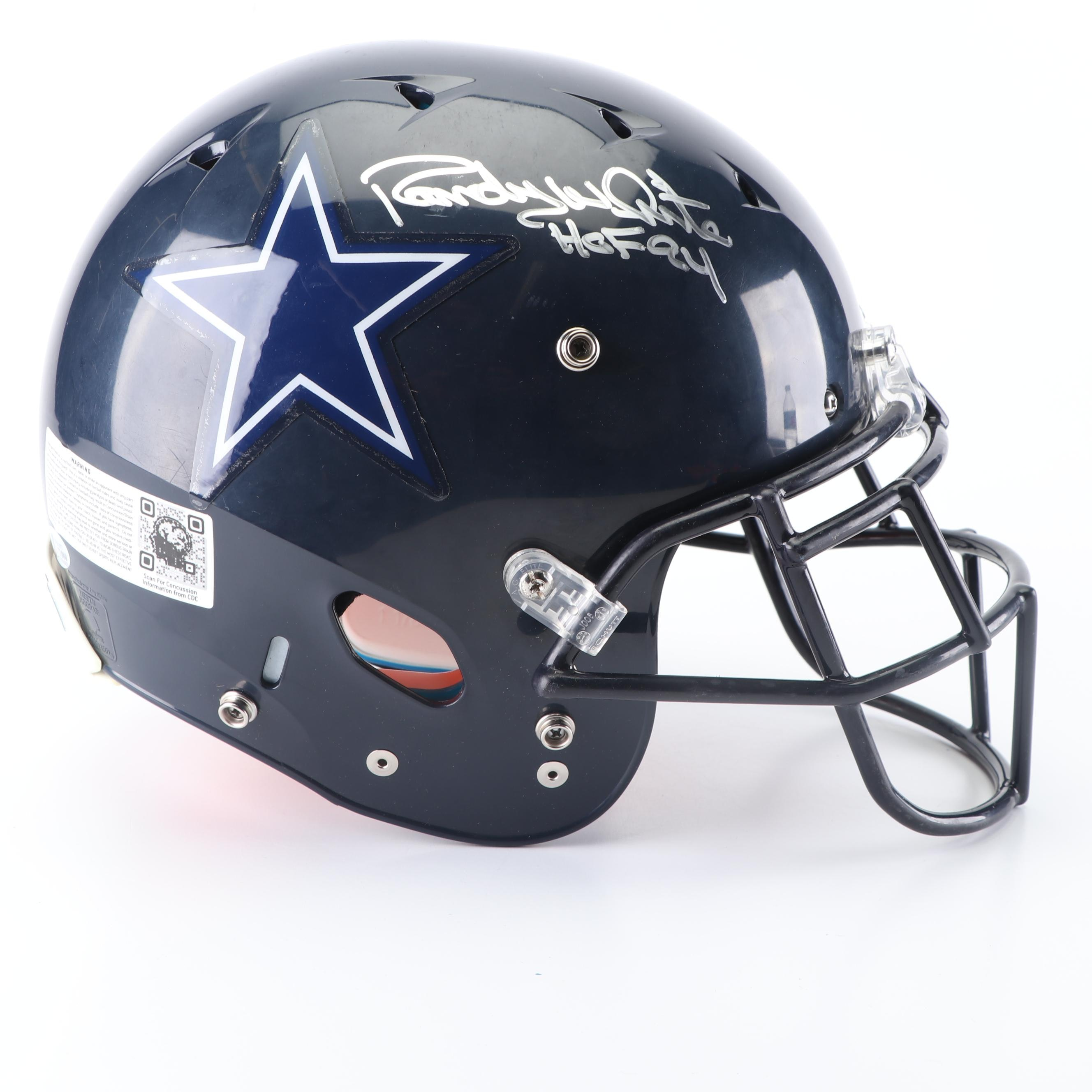 Randy White Autographed Dallas Cowboys Replica Full Size Helmet - Beckett COA