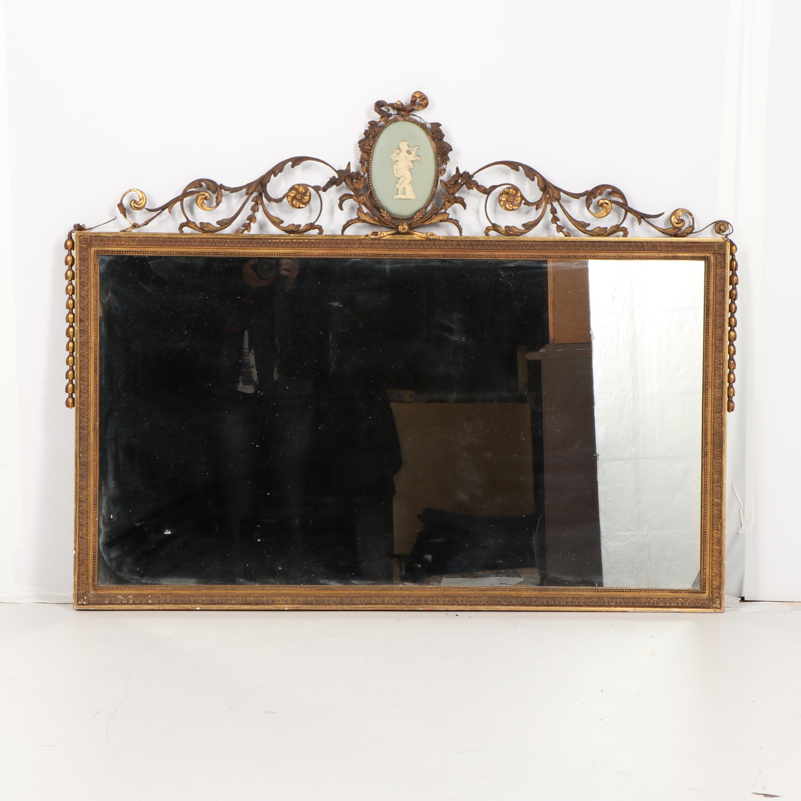 Neoclassical Style Over Mantel Mirror