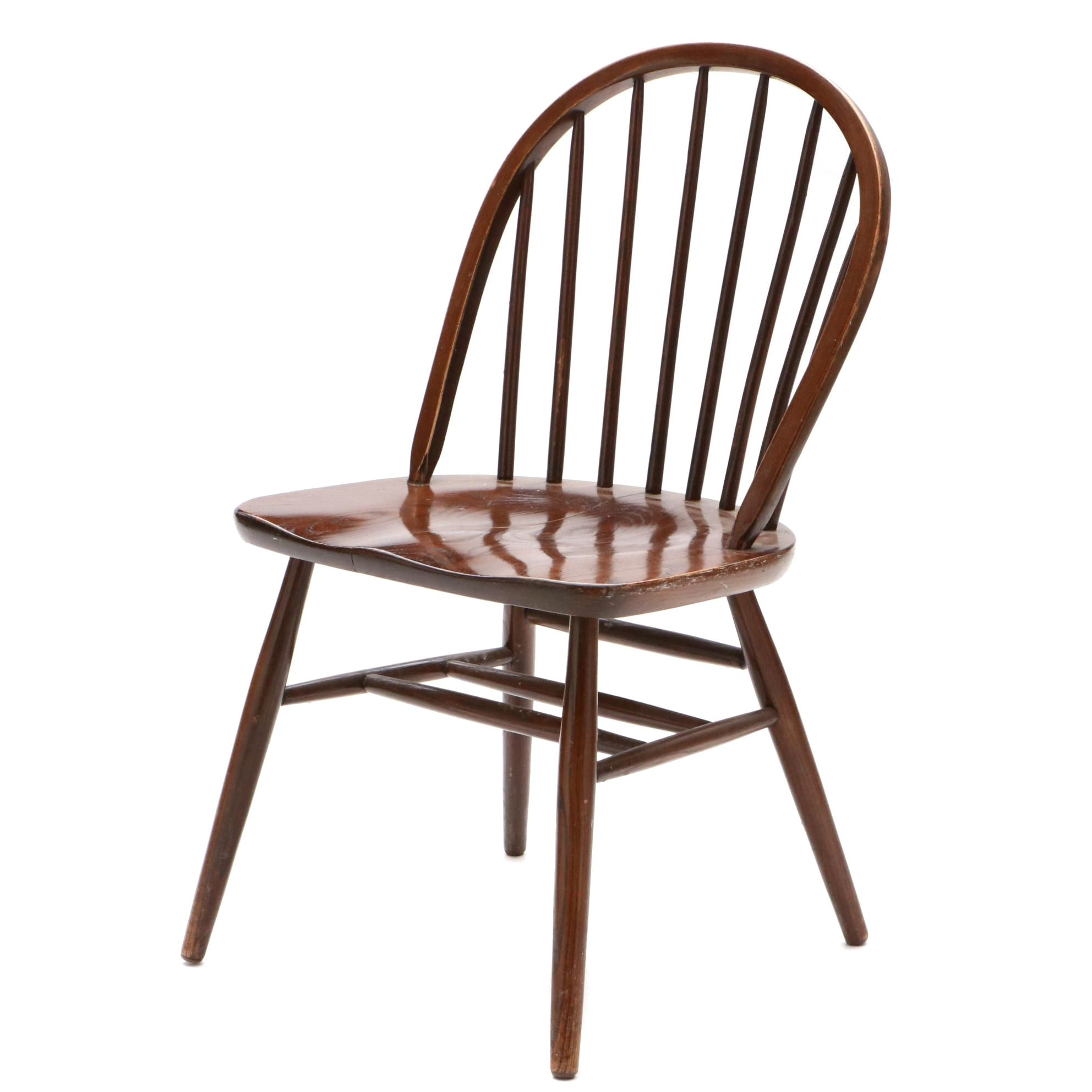Windsor Style Oak Side Chair