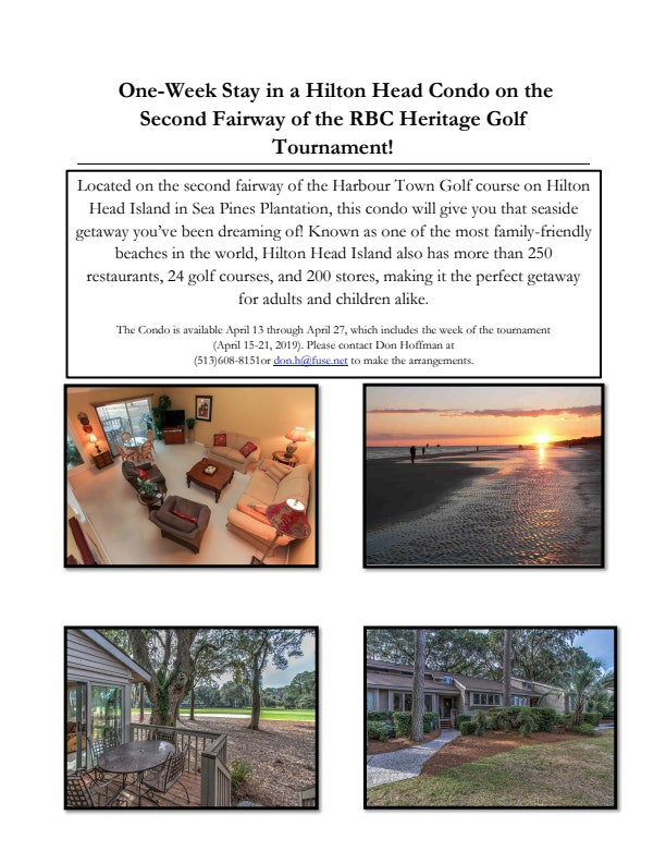 Week Long Hilton Head Stay in Sea Pines Plantation Condo