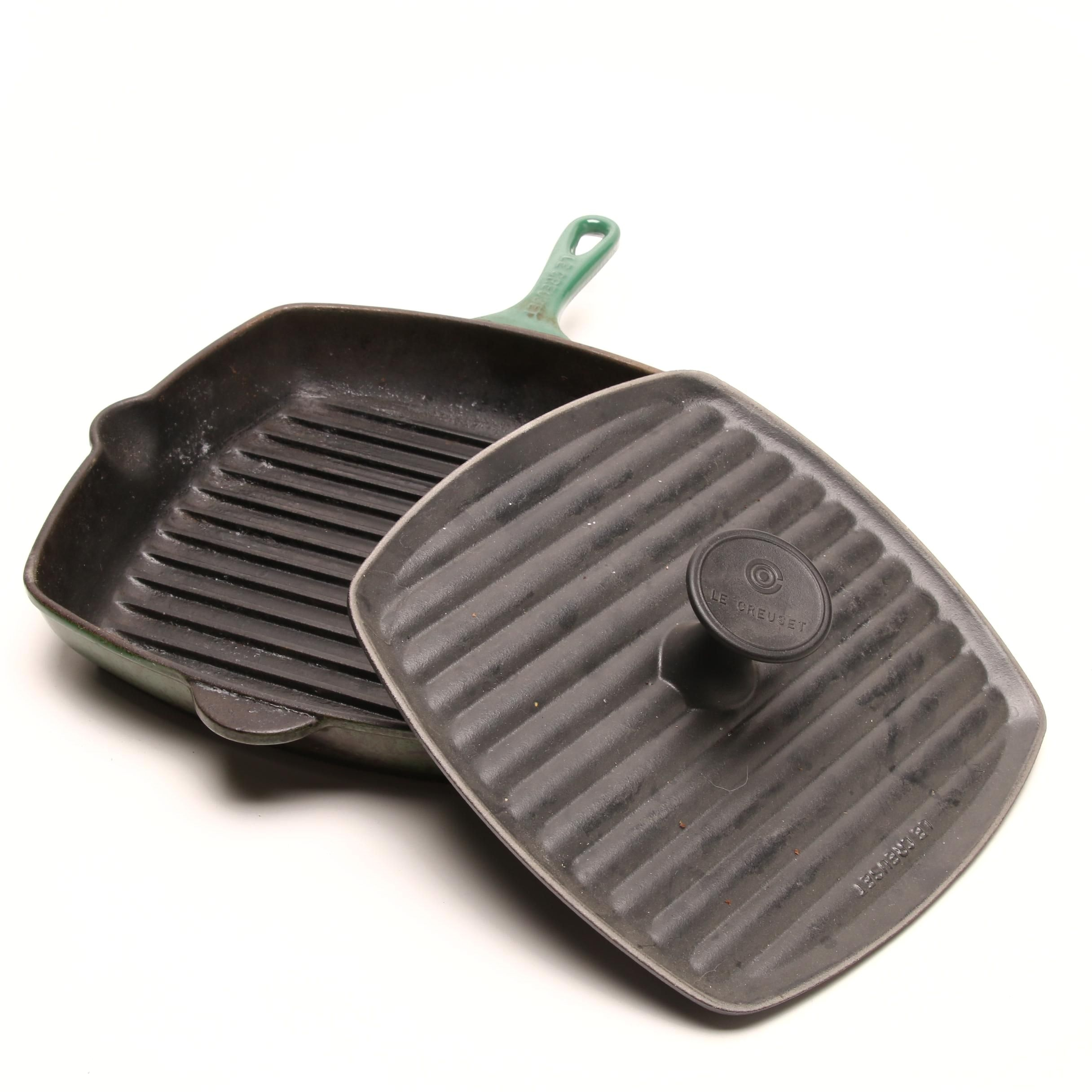 Le Creuset Cast Iron Square Grill Pan and Press