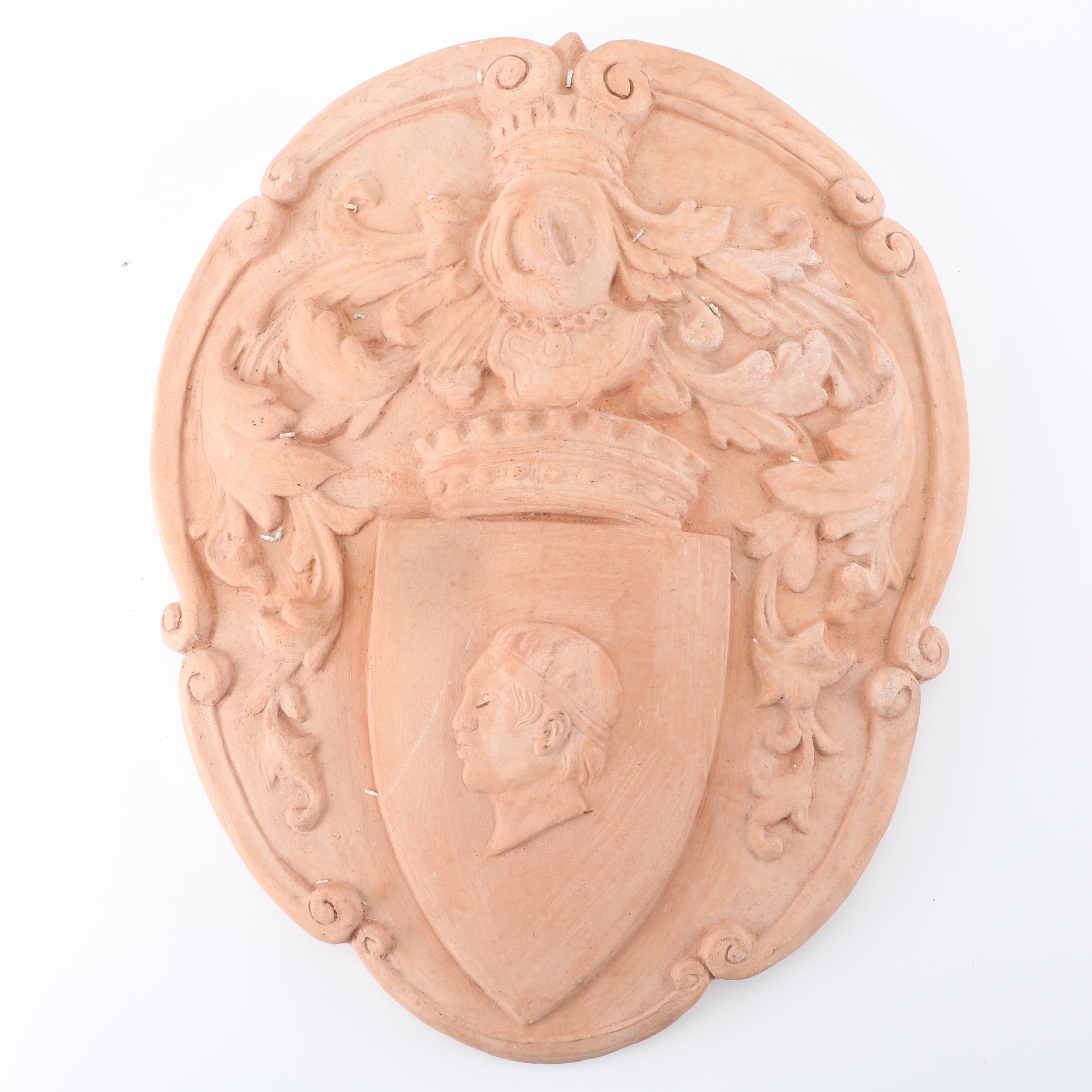 Florentine Cestenoli Art Terracotta Decorative Wall Crest