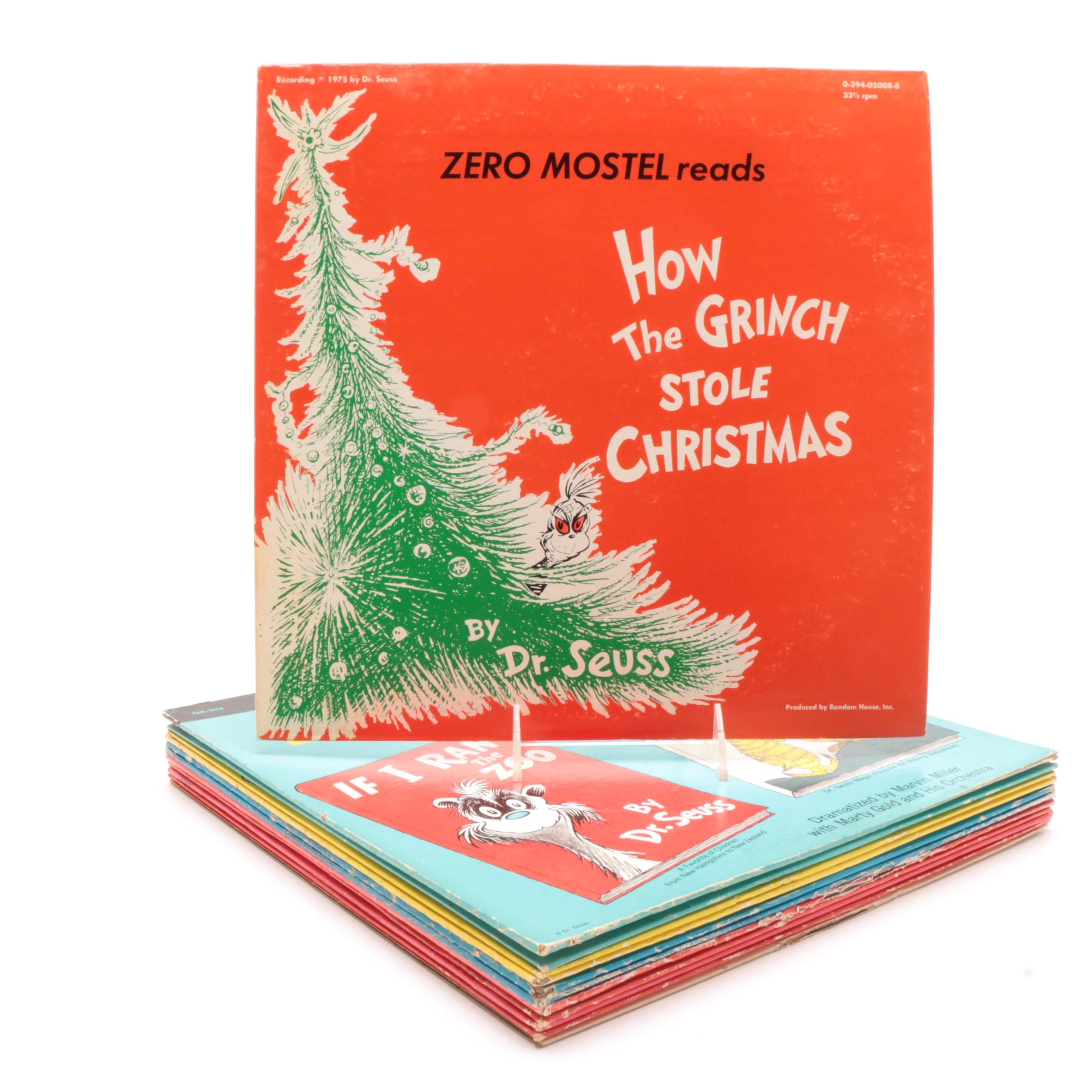 Collection of Dr. Seuss Record Albums