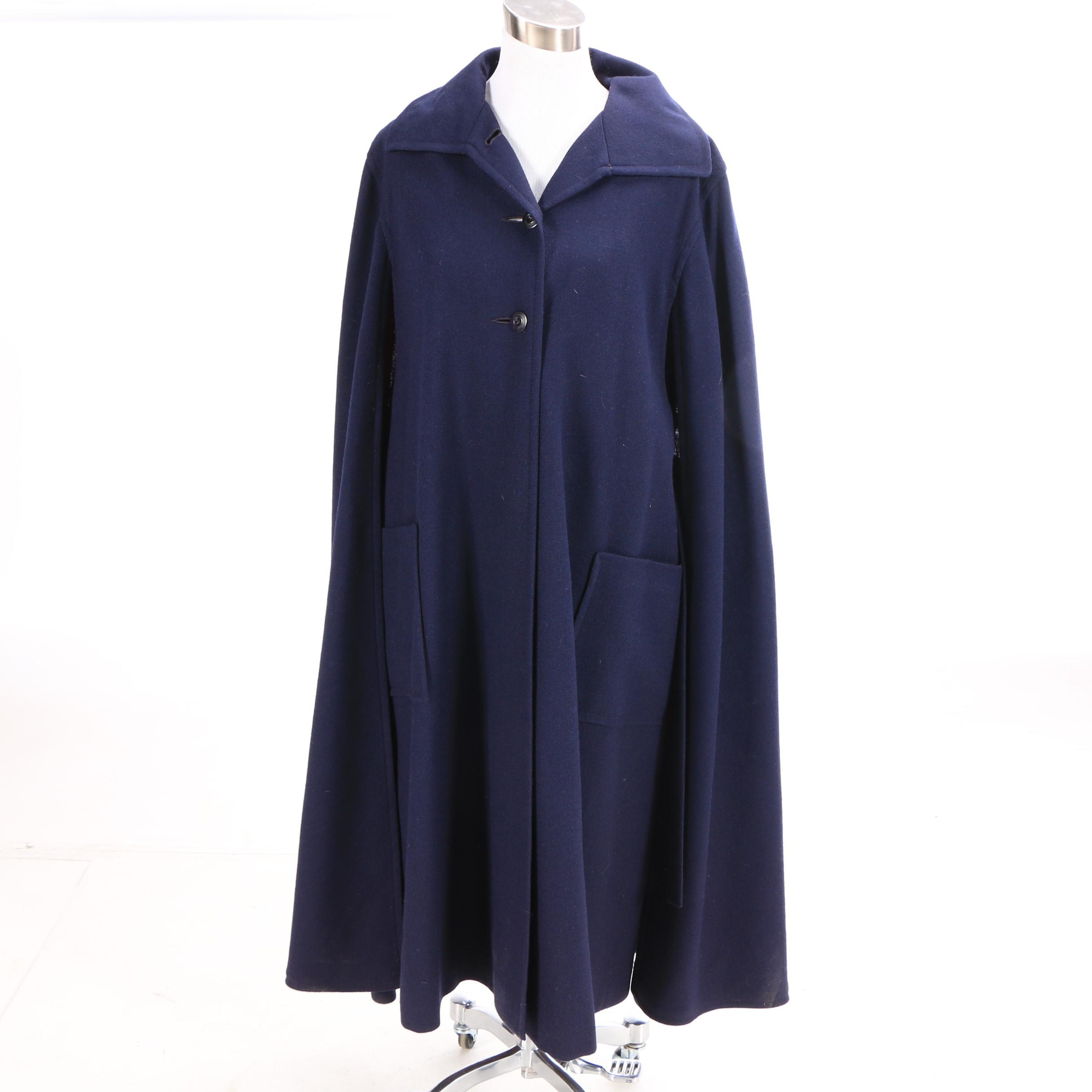 Vintage Raleighs of Washington Navy Blue Cape Coat