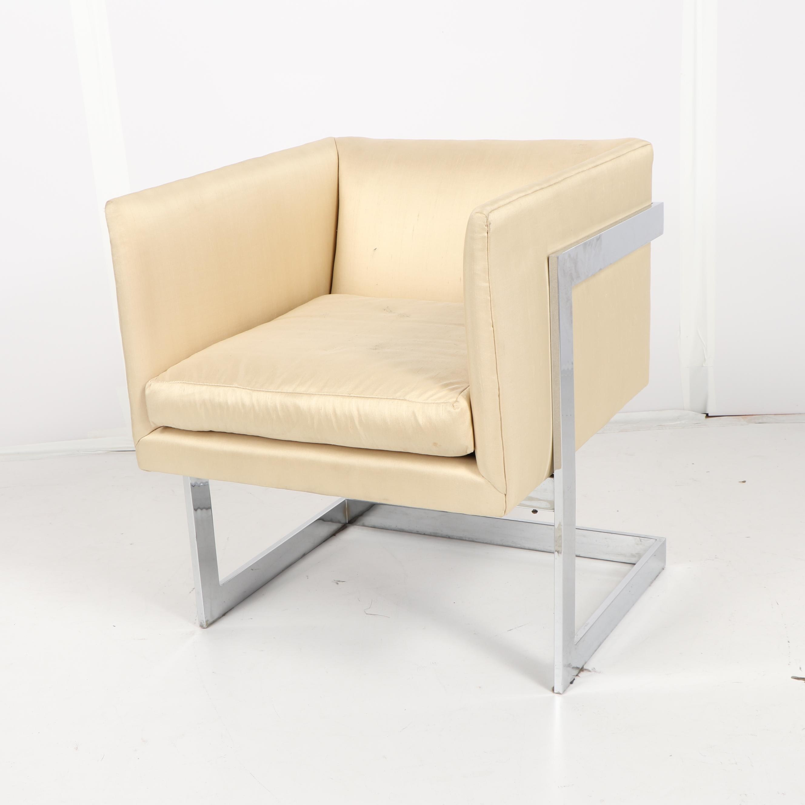 Mid Century Modern Drop-In Club Chair in the Style of Baughman, 20th Century