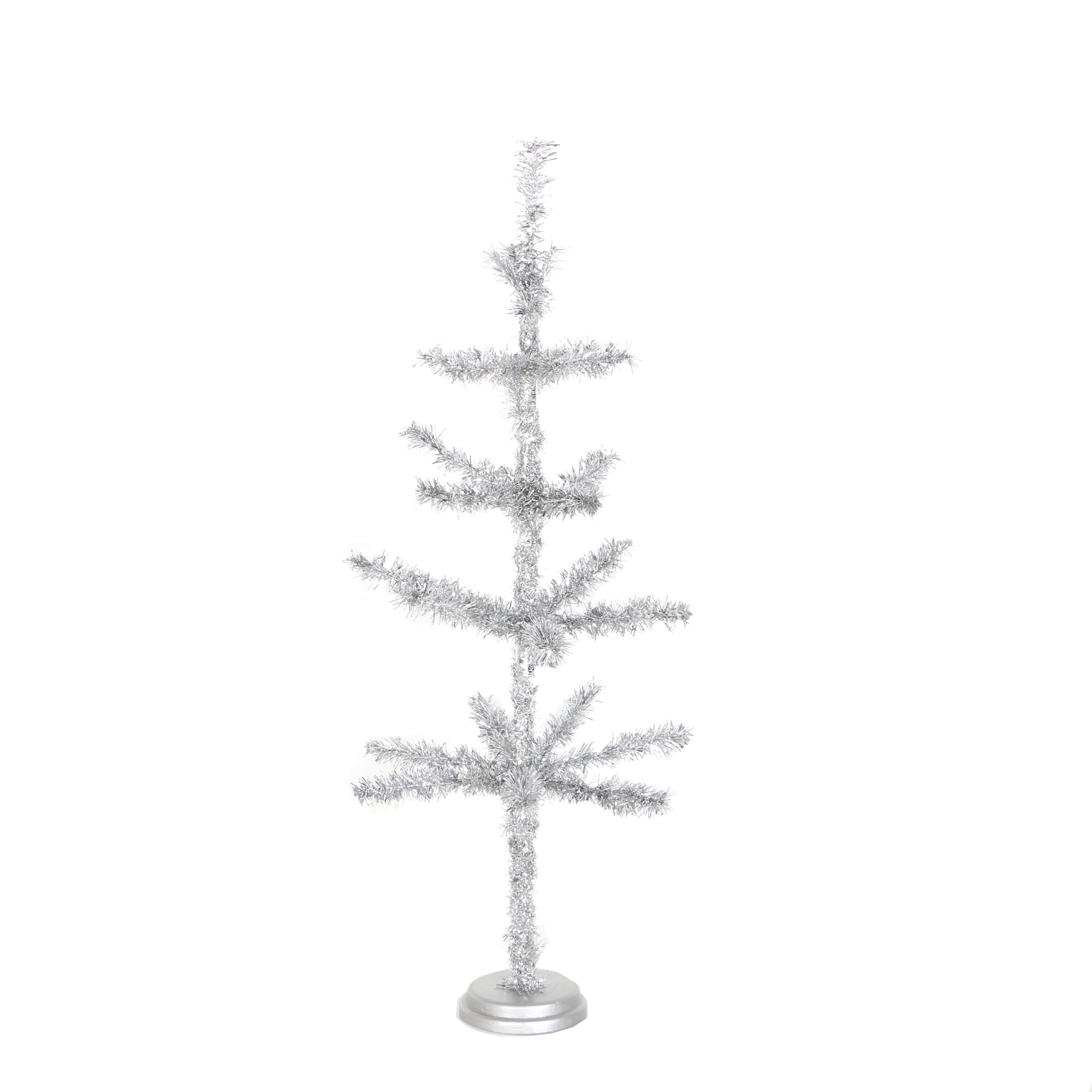 Silver Table Top Tinsel Tree