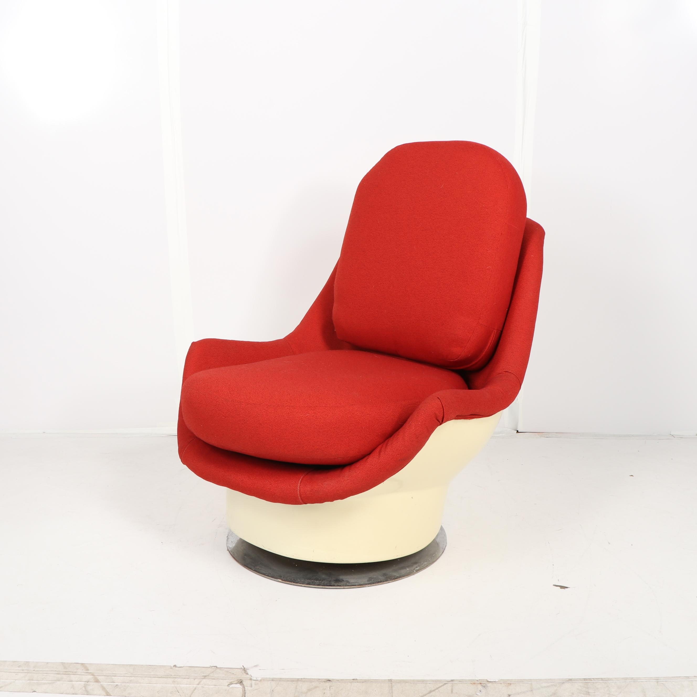 Mid Century Modern Style Molded Plastic Held Style Chair, 20th Century