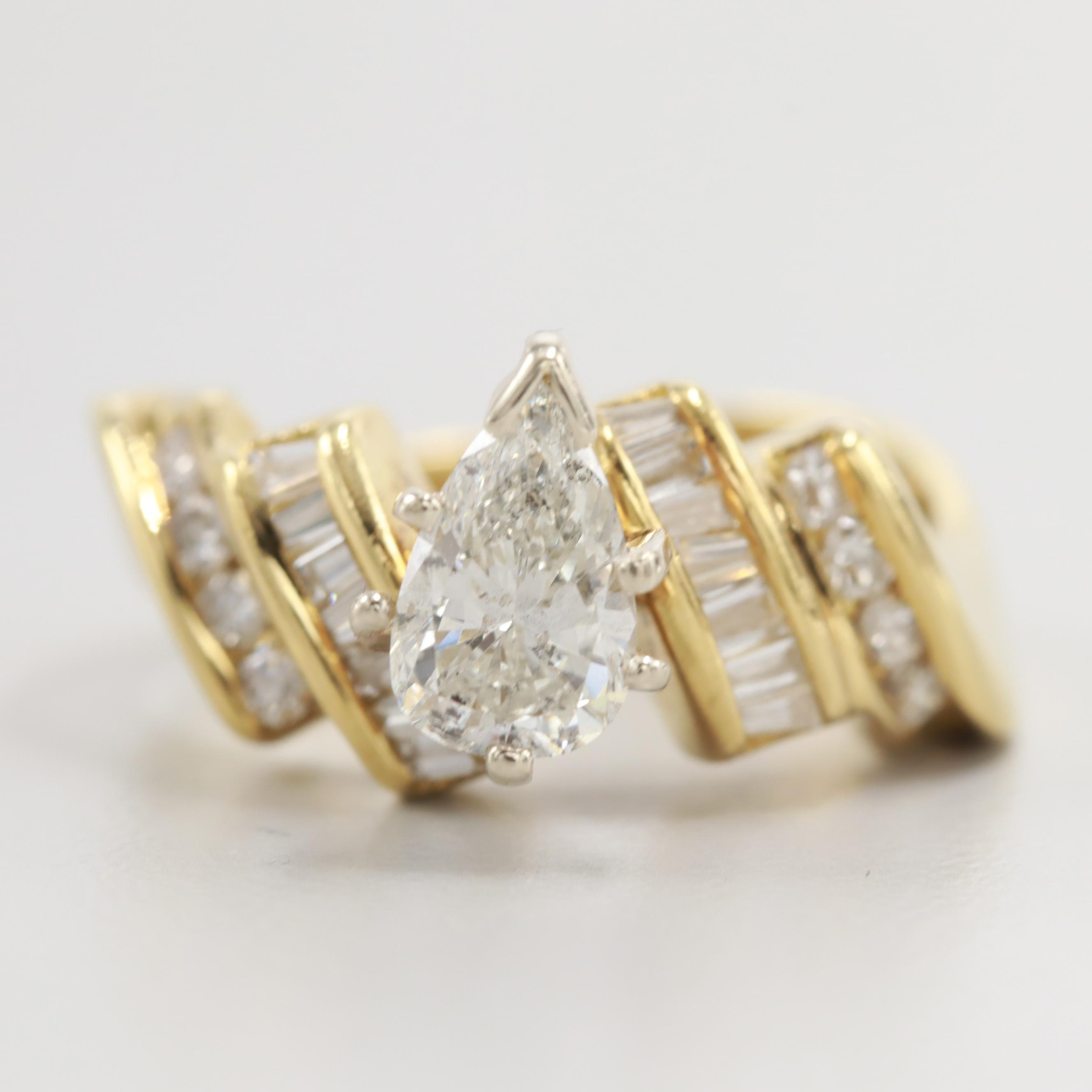 18K Yellow Gold 1.03 CTW Diamond Ring
