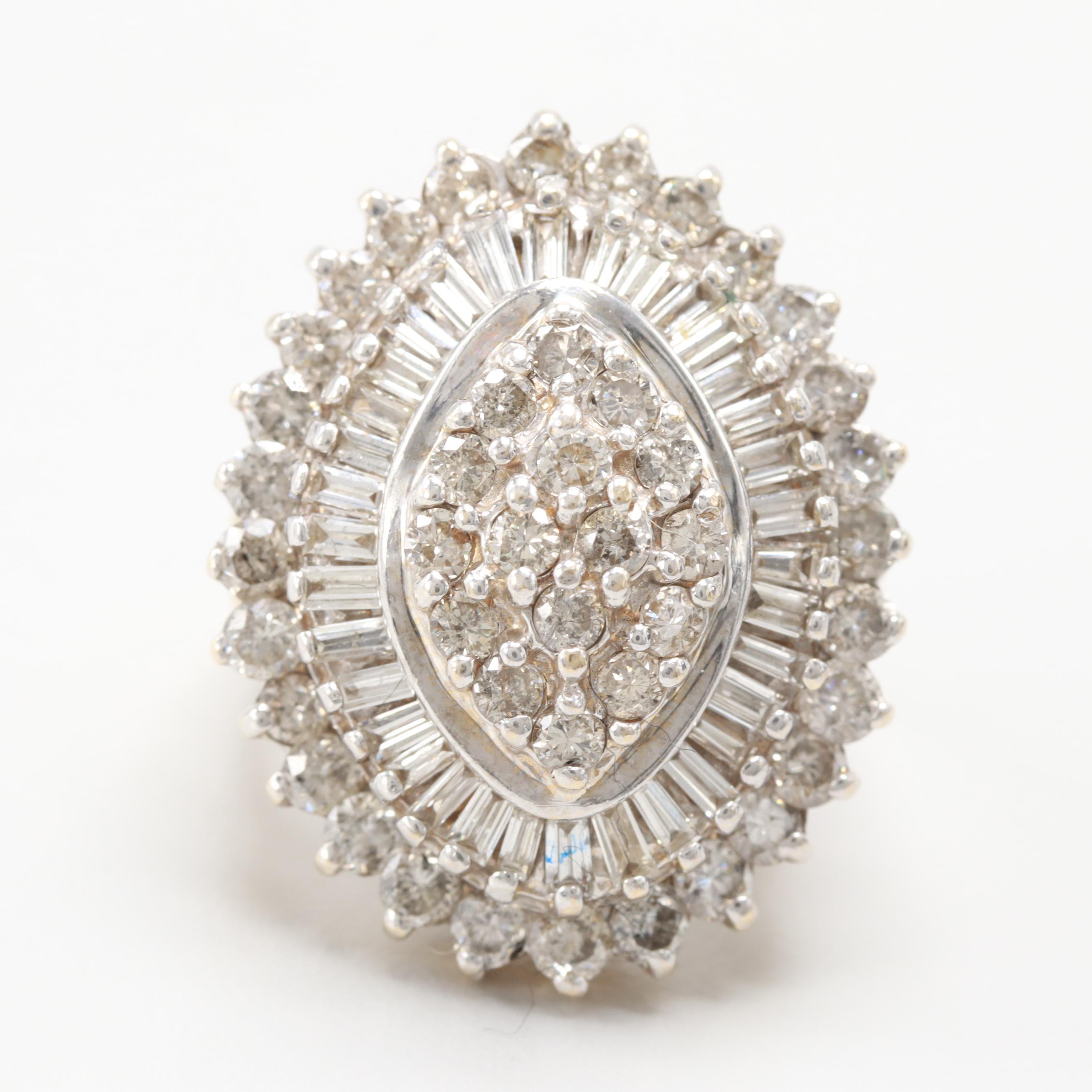14K Yellow Gold 3.19 CTW Diamond Ring
